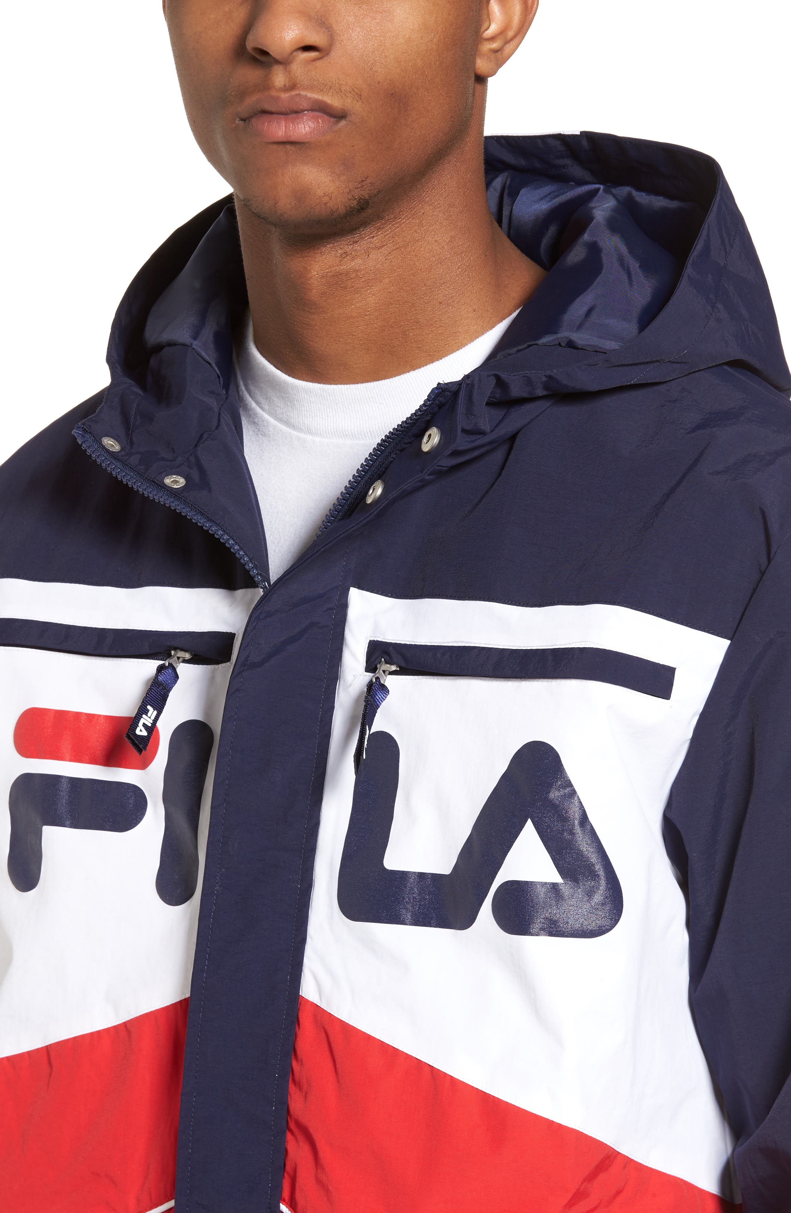 Linden Jacket,                             Alternate thumbnail 4, color,                             Navy/ White/ Chinese Red