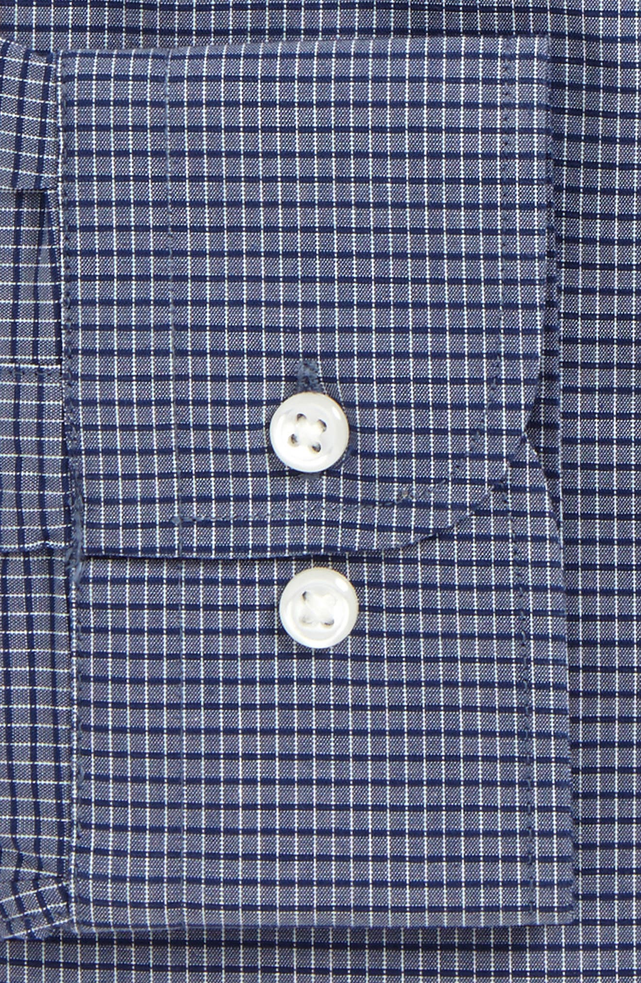 Alternate Image 5  - Nordstrom Men's Shop Tech-Smart Trim Fit Stretch Check Dress Shirt
