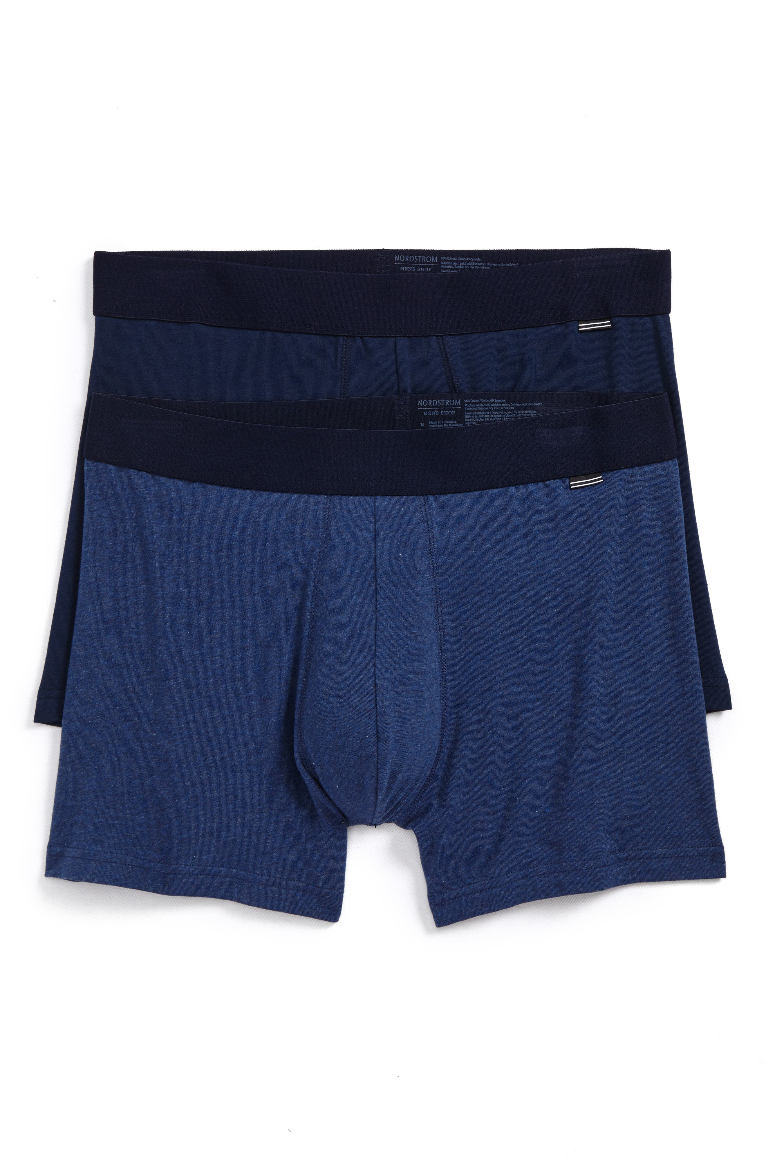 2-Pack Boxer Briefs,                             Main thumbnail 1, color,                             Navy/ Navy Heather