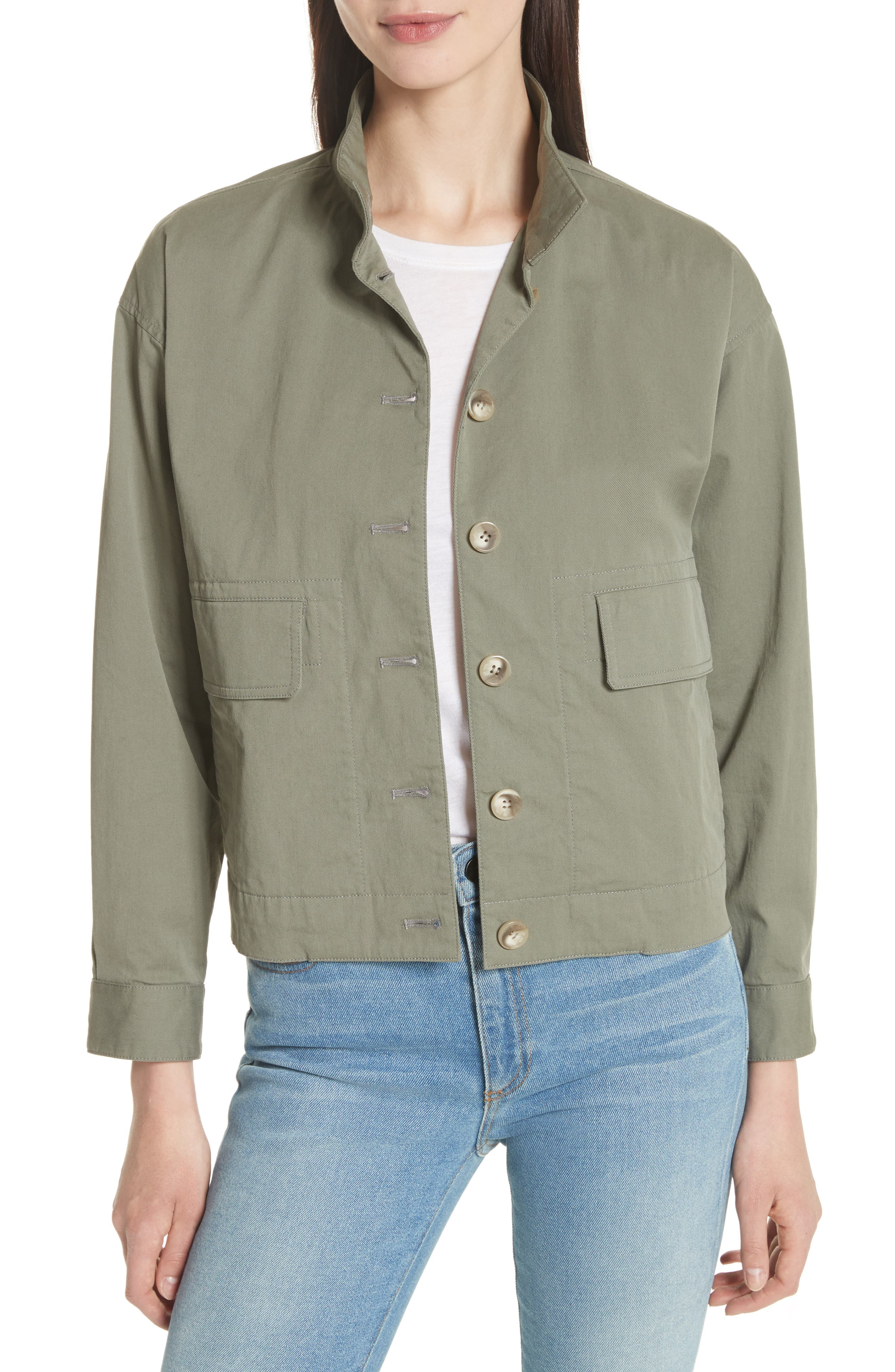 Blouson Bomber Jacket,                         Main,                         color, Faded Army