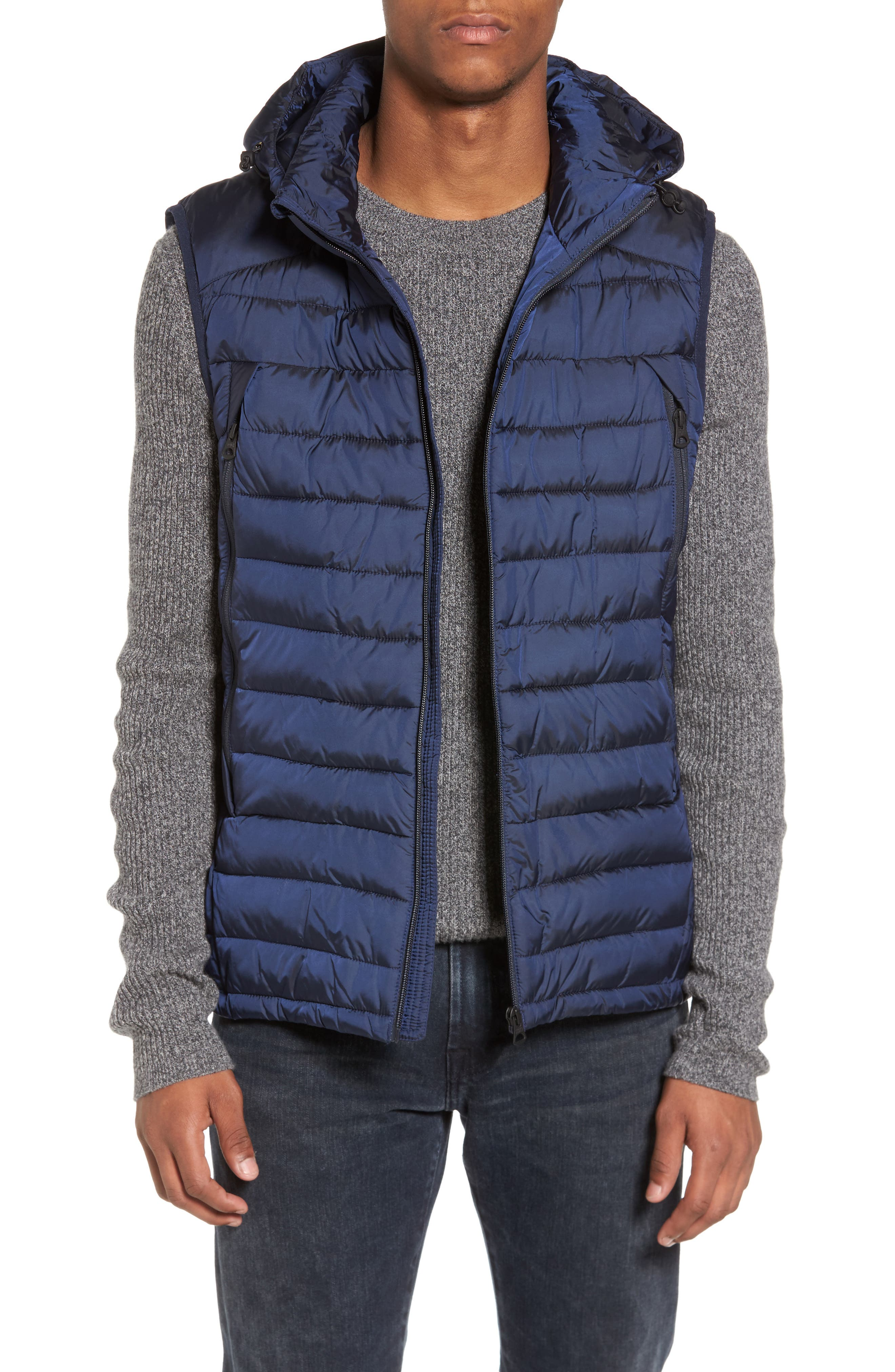 Quilted Vest,                             Main thumbnail 1, color,                             Night