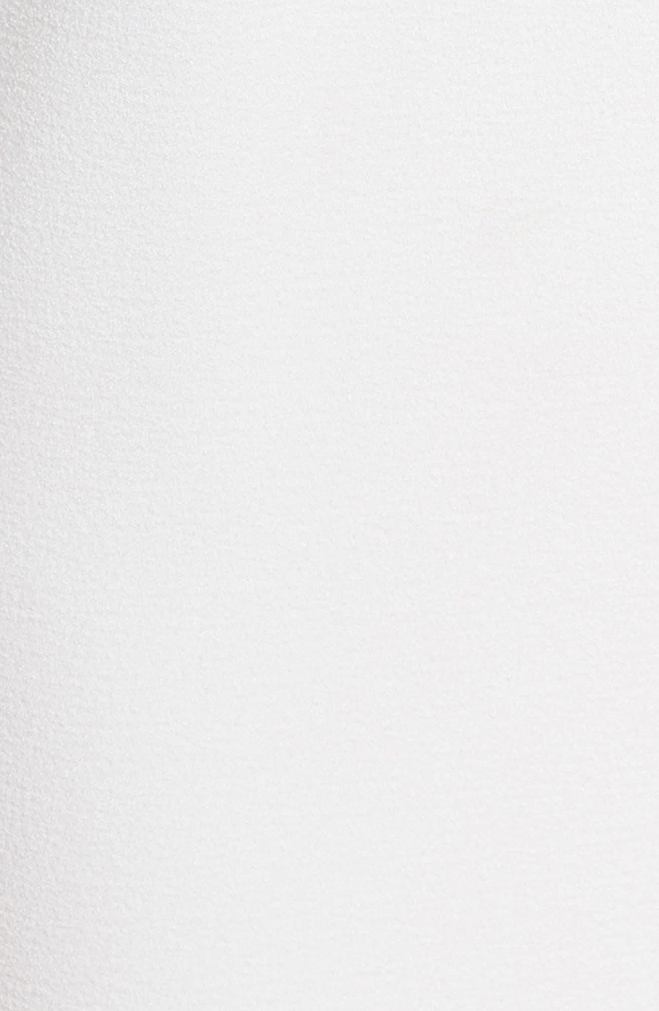 One-Shoulder Crepe Jumpsuit,                             Alternate thumbnail 5, color,                             Ivy