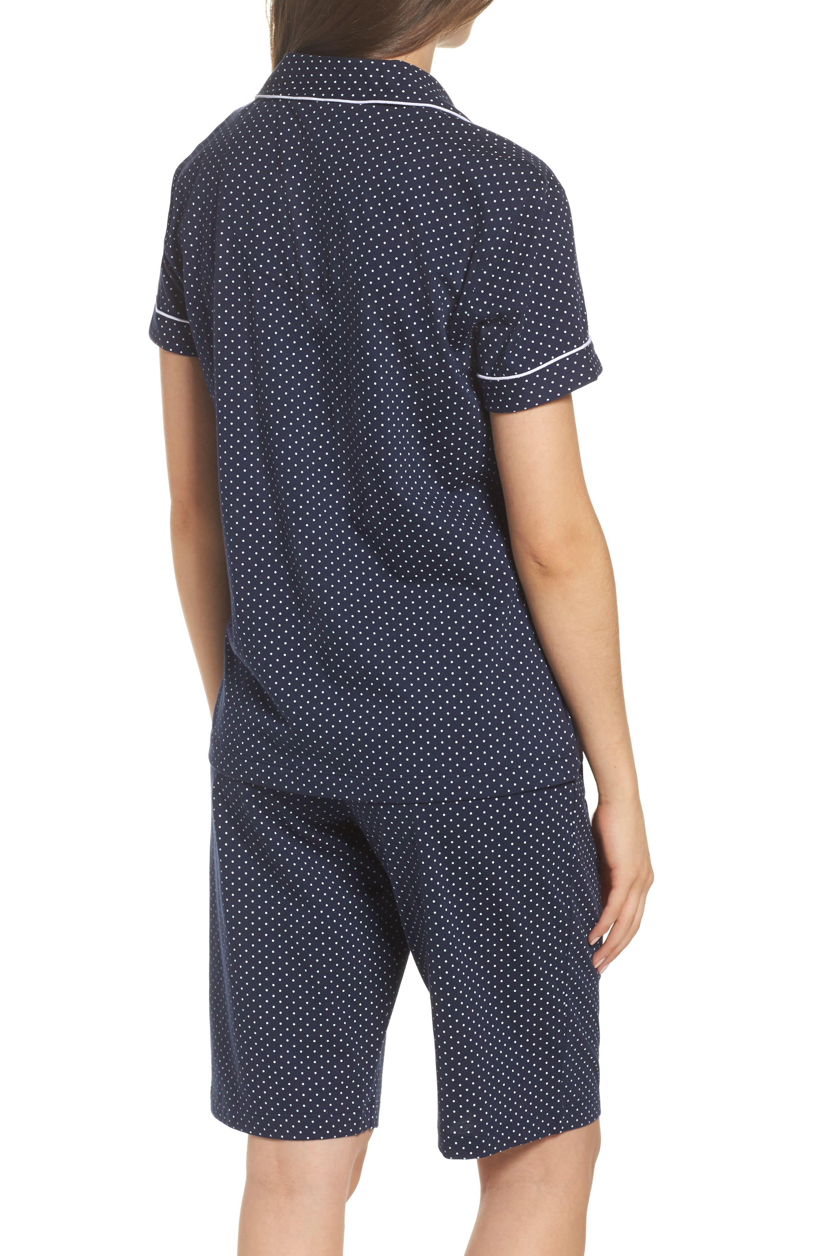 Bermuda Pajamas,                             Alternate thumbnail 2, color,                             Navy Dot