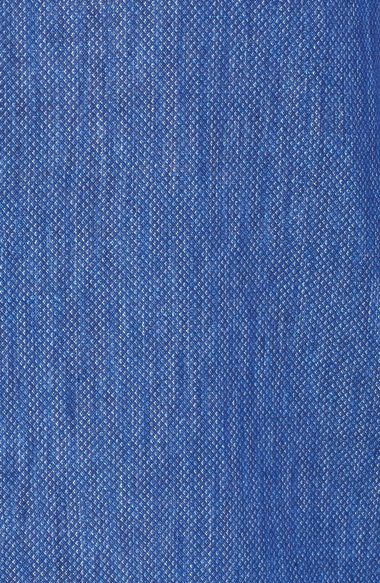 Paul&Shark Regular Fit Piqué Sport Shirt,                             Alternate thumbnail 5, color,                             Blue