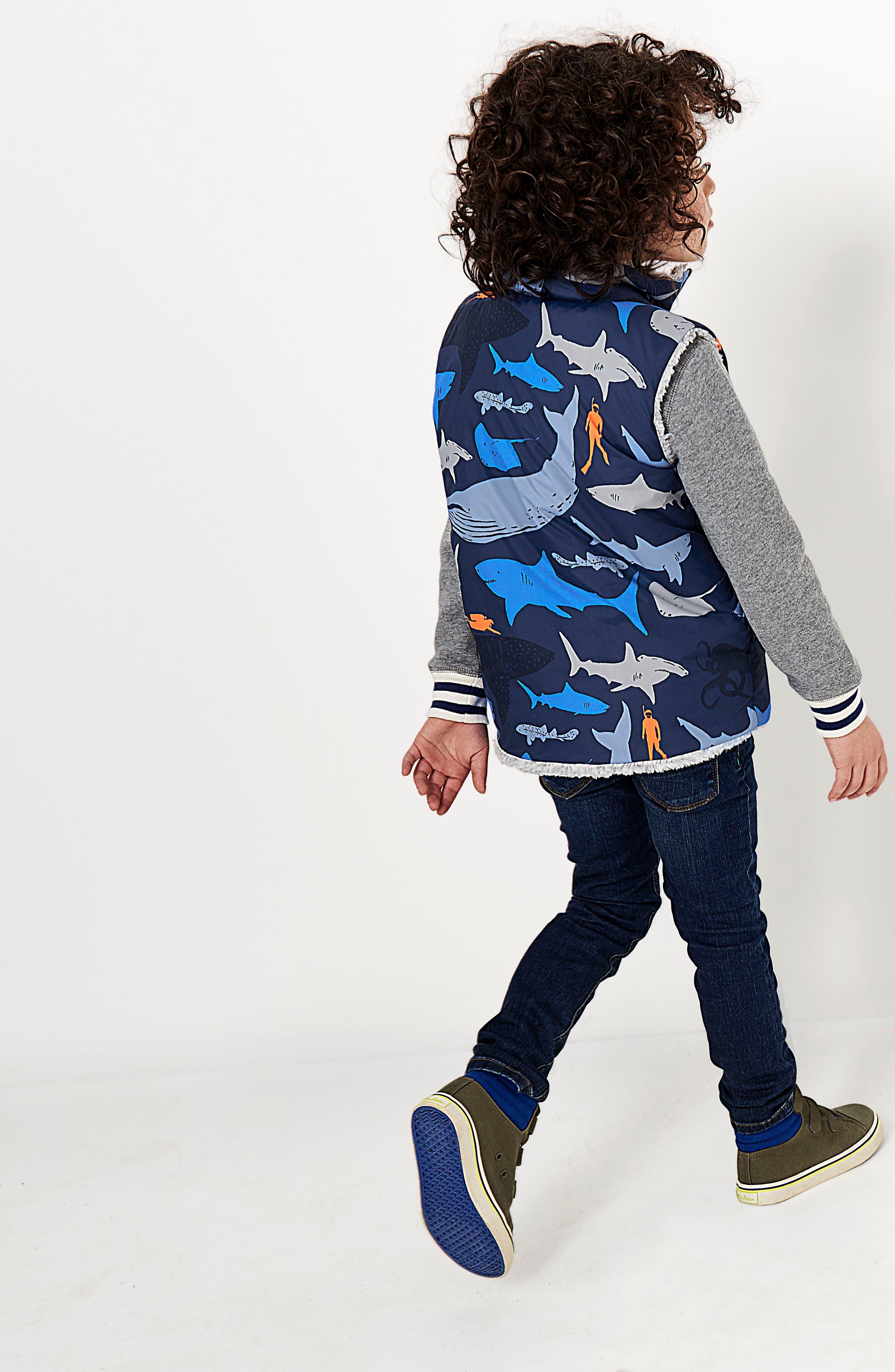 Reversible Vest,                             Alternate thumbnail 3, color,                             Beacon Blue Shark Dive