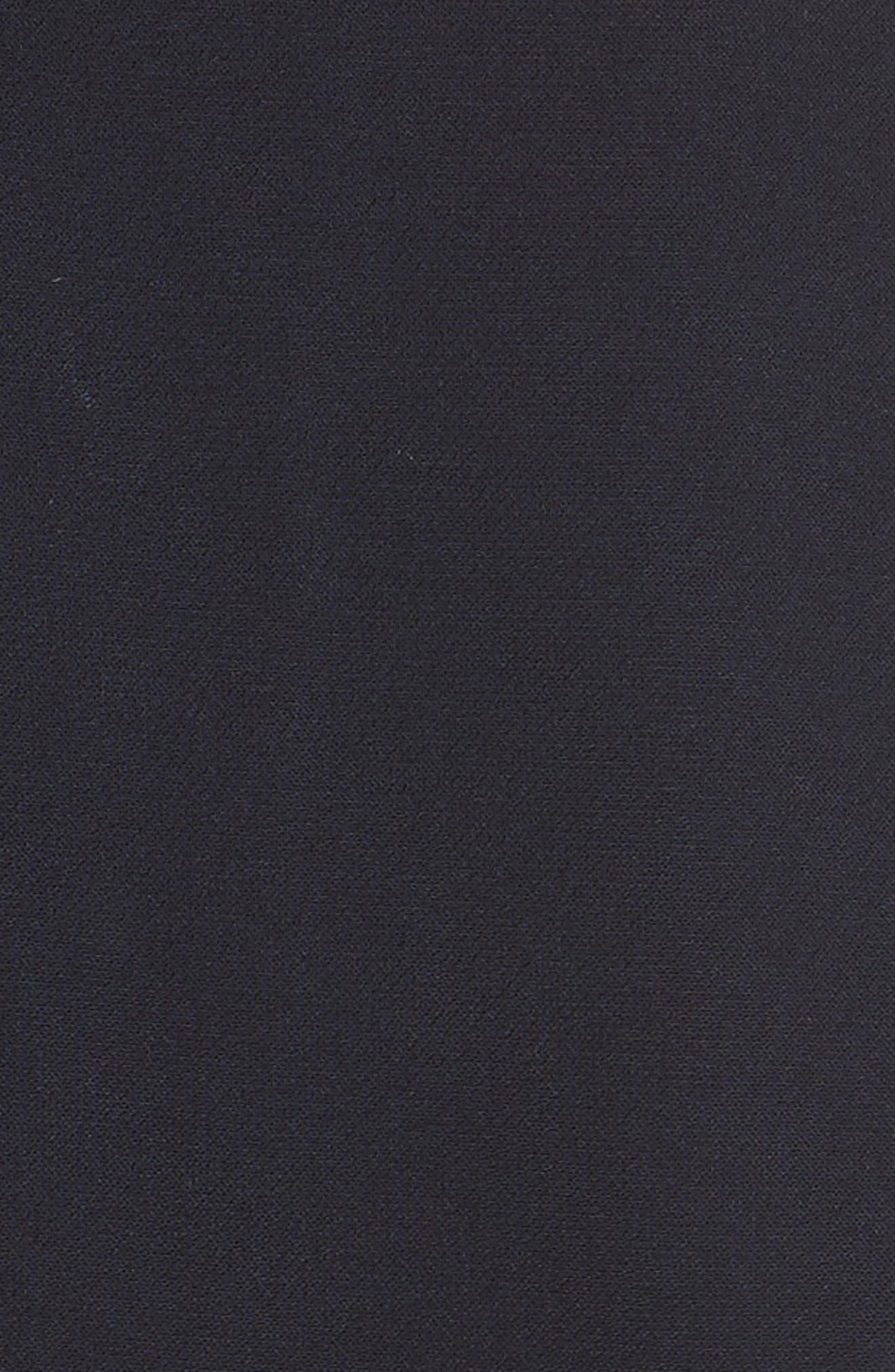 Scalloped Panel Fit & Flare Dress,                             Alternate thumbnail 5, color,                             Dark Blue
