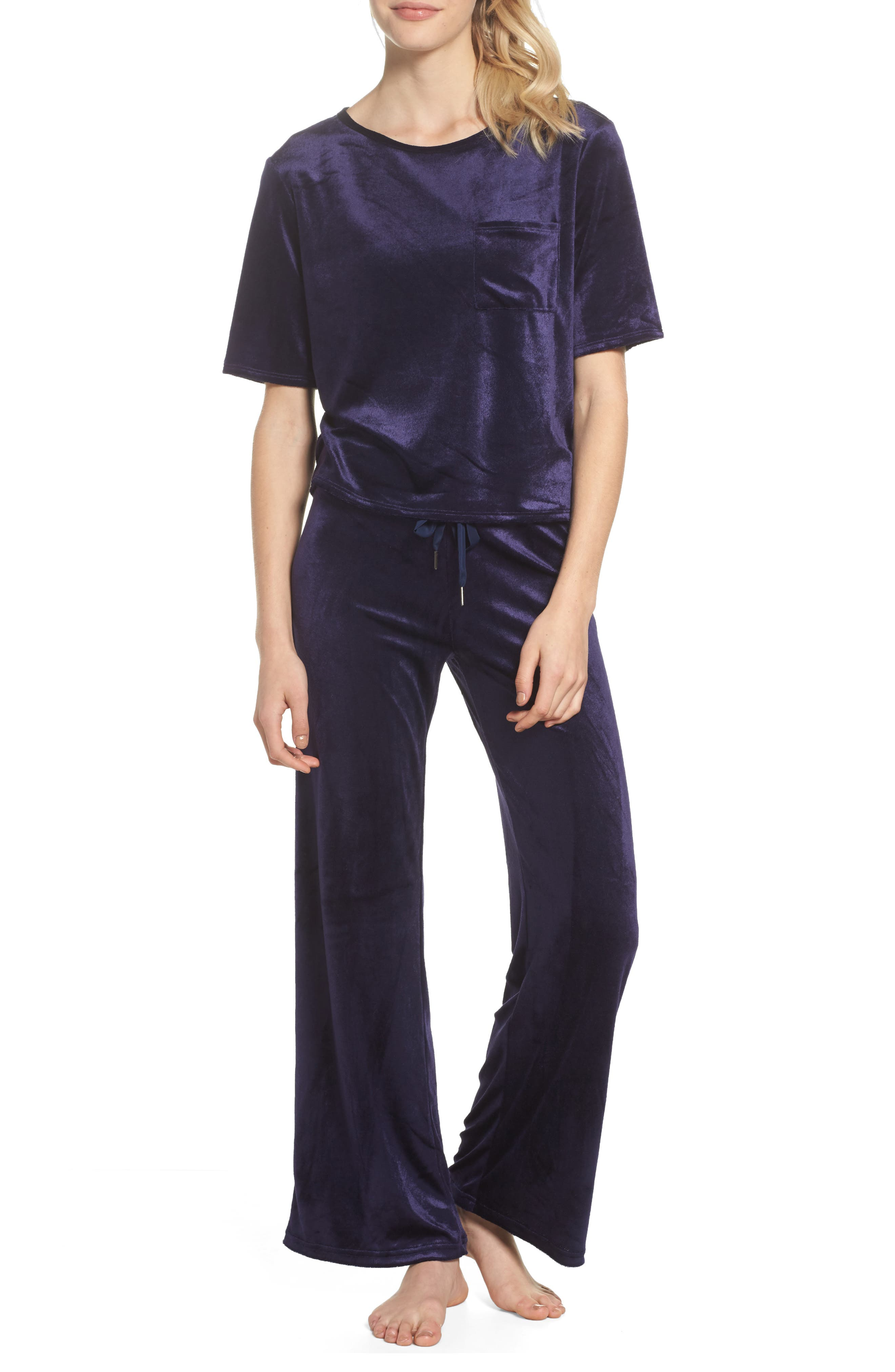 Alternate Image 4  - Make + Model Paris Wide Leg Velour Pants