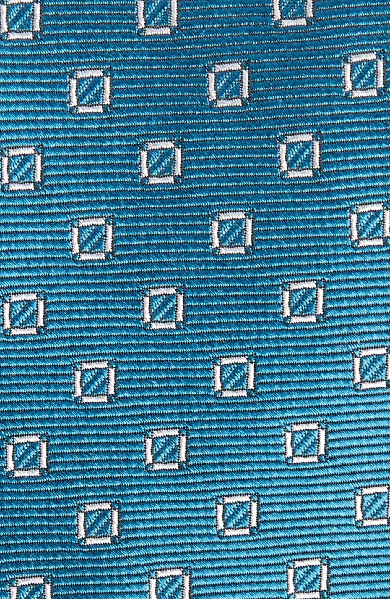 Junction Geo Silk Skinny Tie,                             Alternate thumbnail 2, color,                             Teal