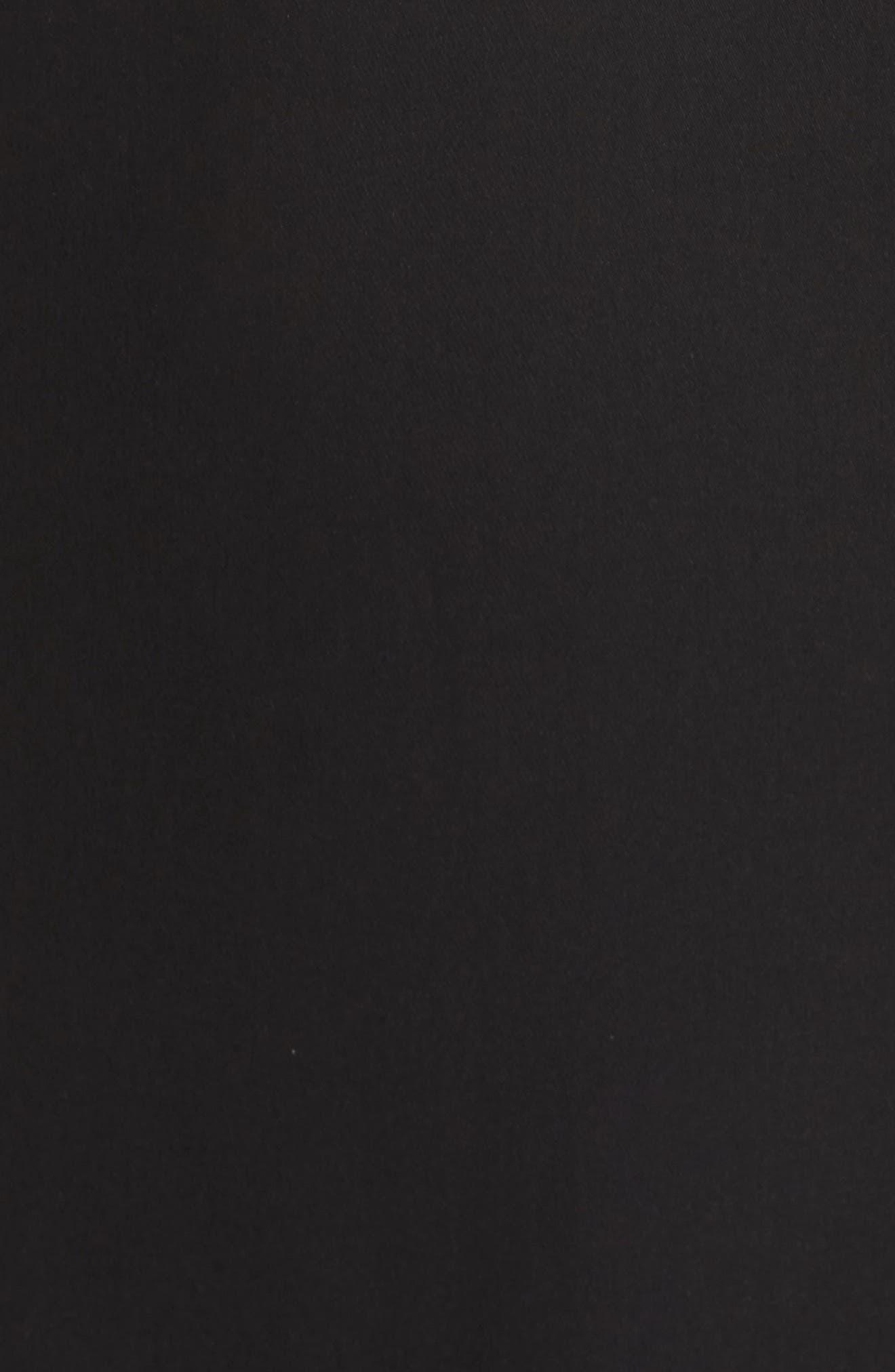 Crochet Bodice Gown,                             Alternate thumbnail 5, color,                             Black/ Ivory