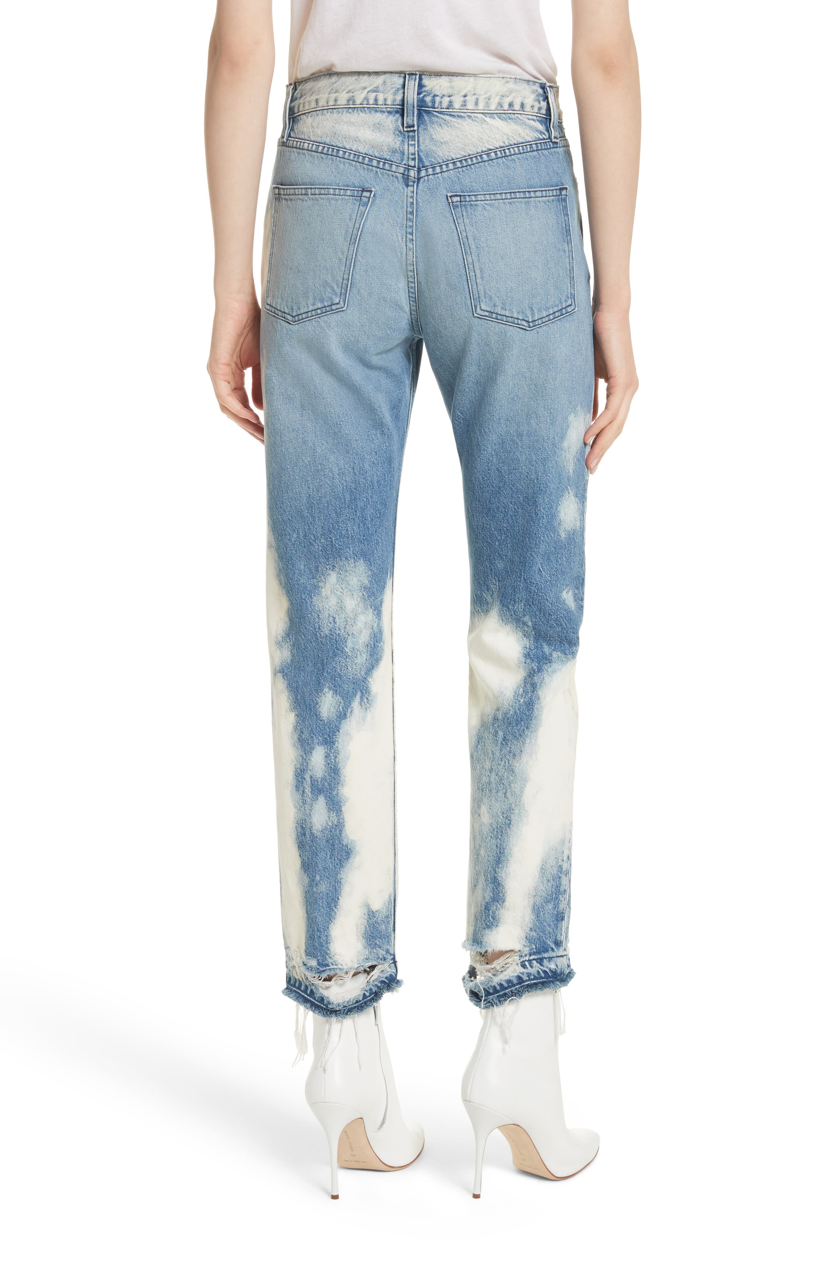 W3 Higher Ground Bleached Ankle Slim Fit Jeans,                             Alternate thumbnail 2, color,                             Marble