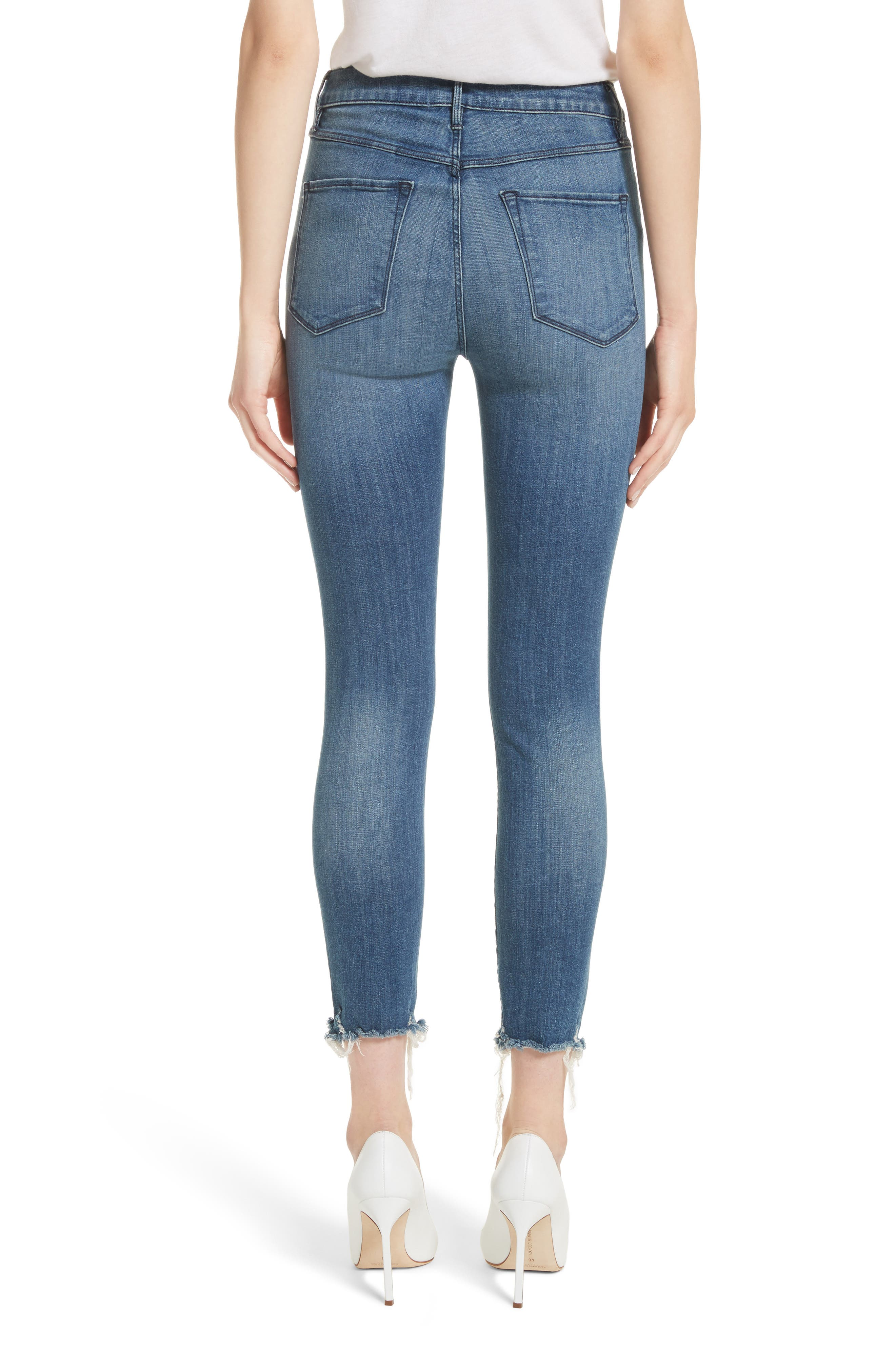 W3 Crop Skinny Jeans,                             Alternate thumbnail 2, color,                             Remo
