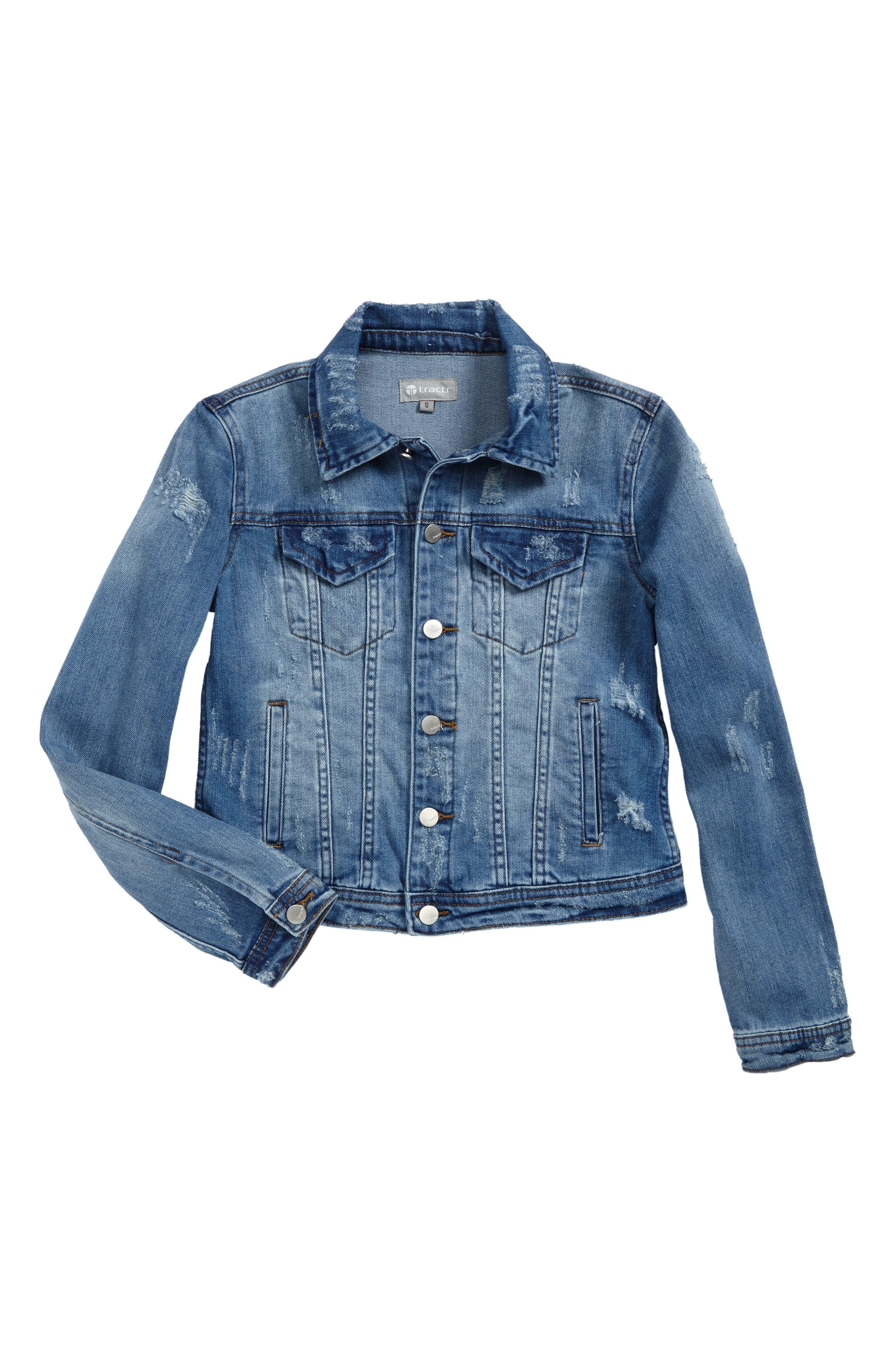 Decon Denim Jacket,                         Main,                         color, Indigo
