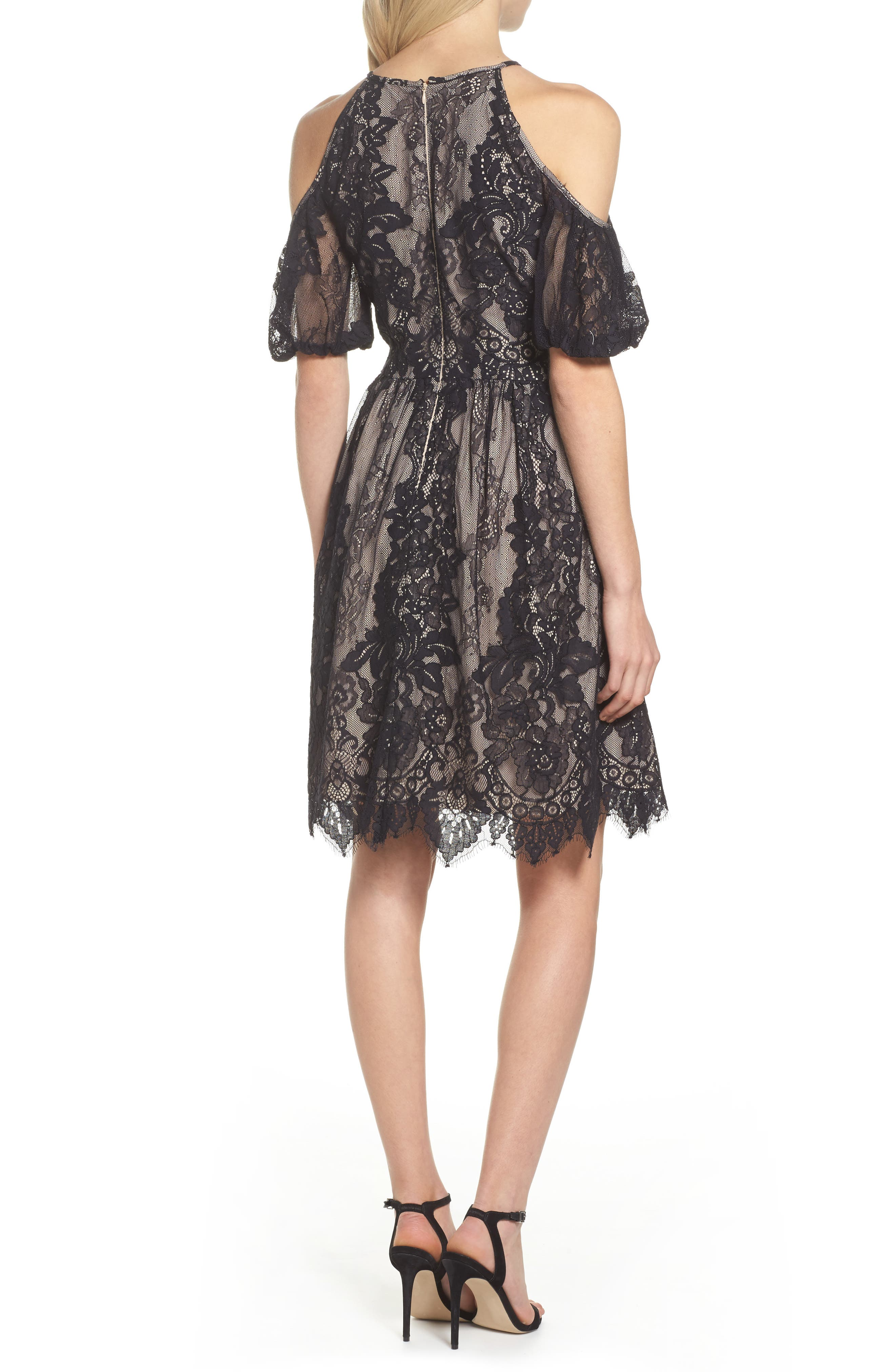 Alternate Image 2  - Maggy London Cold Shoulder Lace Dress