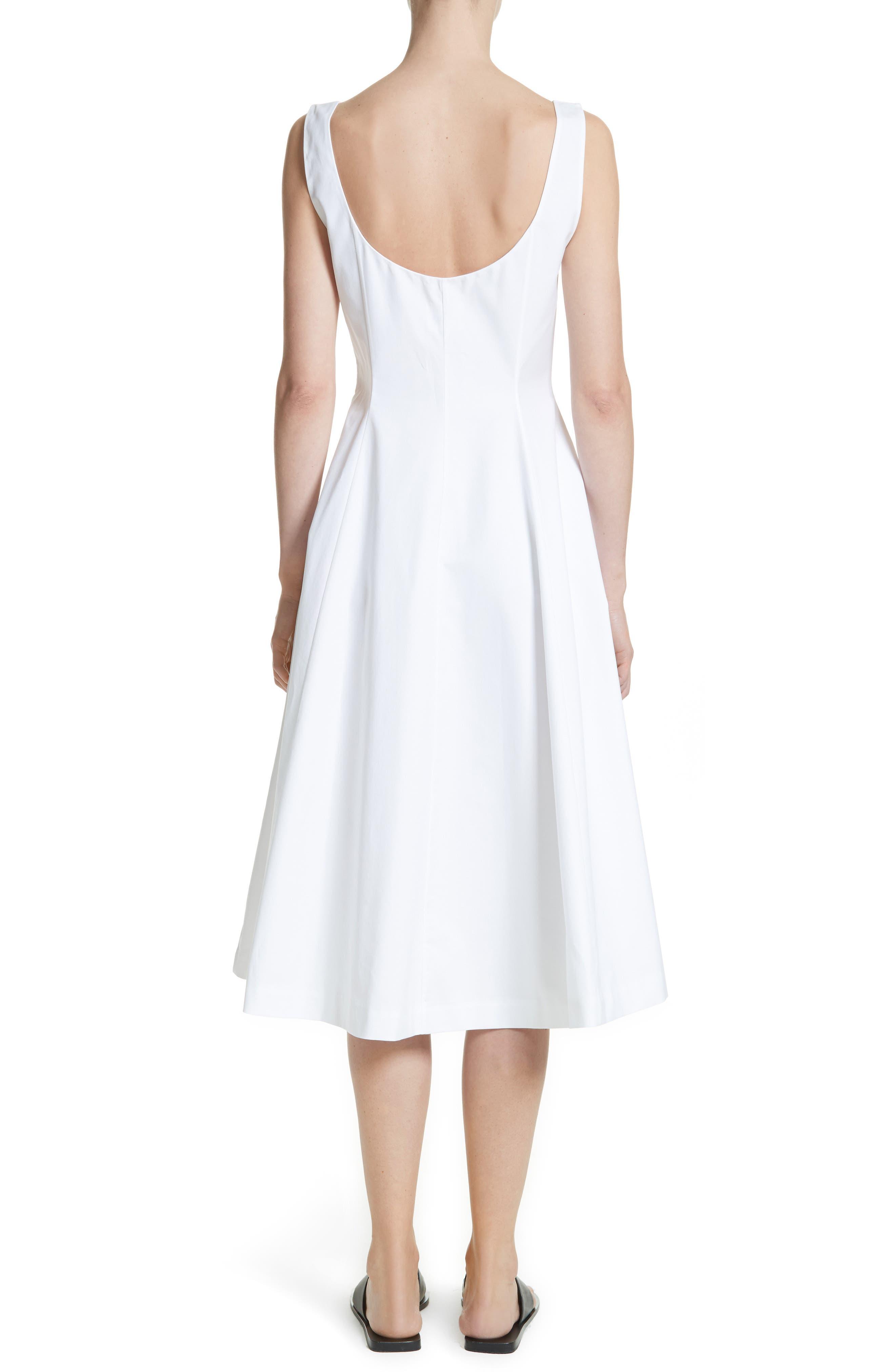 Cindy Poplin Tank Dress,                             Alternate thumbnail 2, color,                             White
