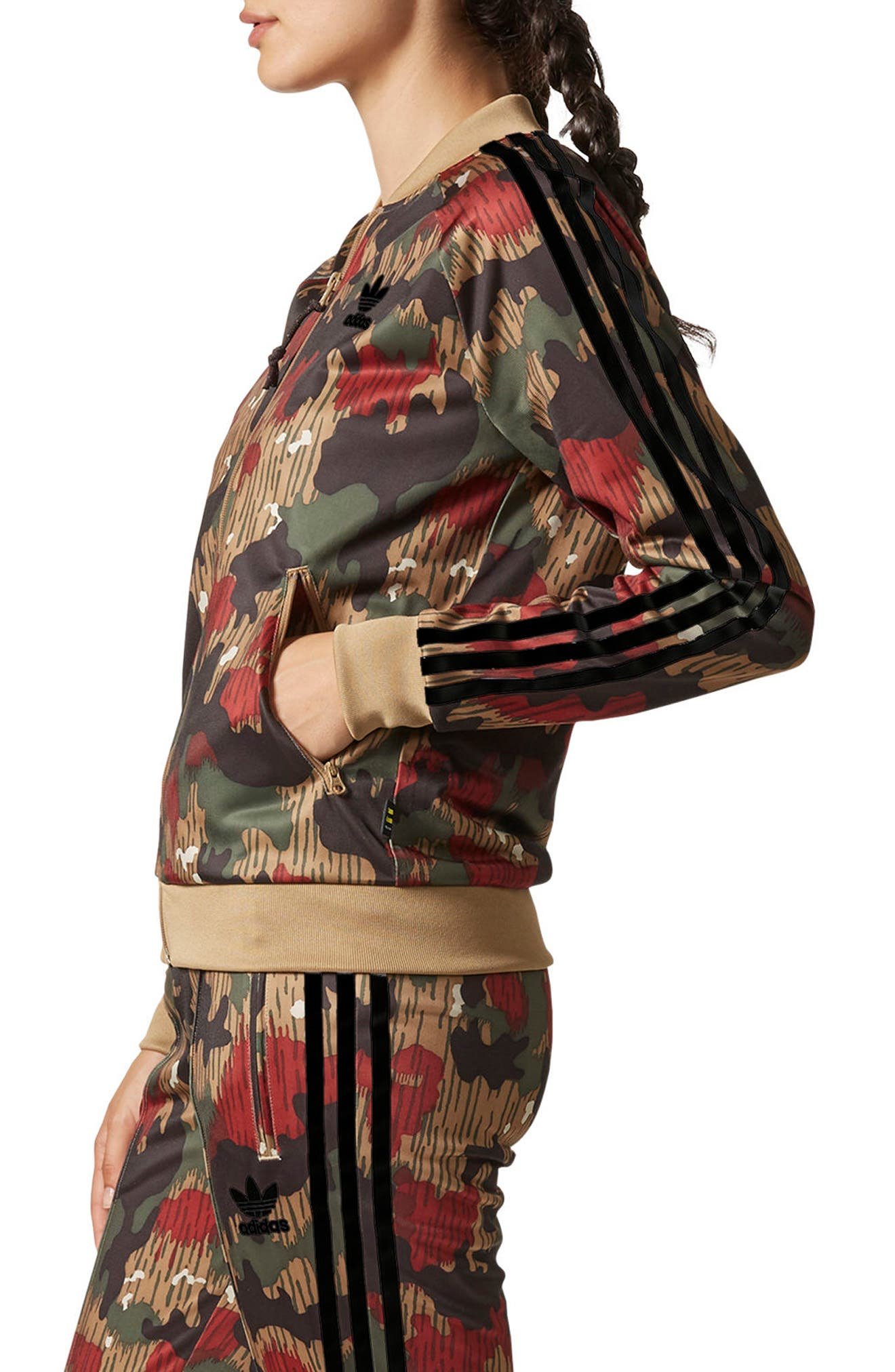 Originals Pharrell Williams Hu Hiking Jacket,                             Alternate thumbnail 3, color,                             Swiss Camo