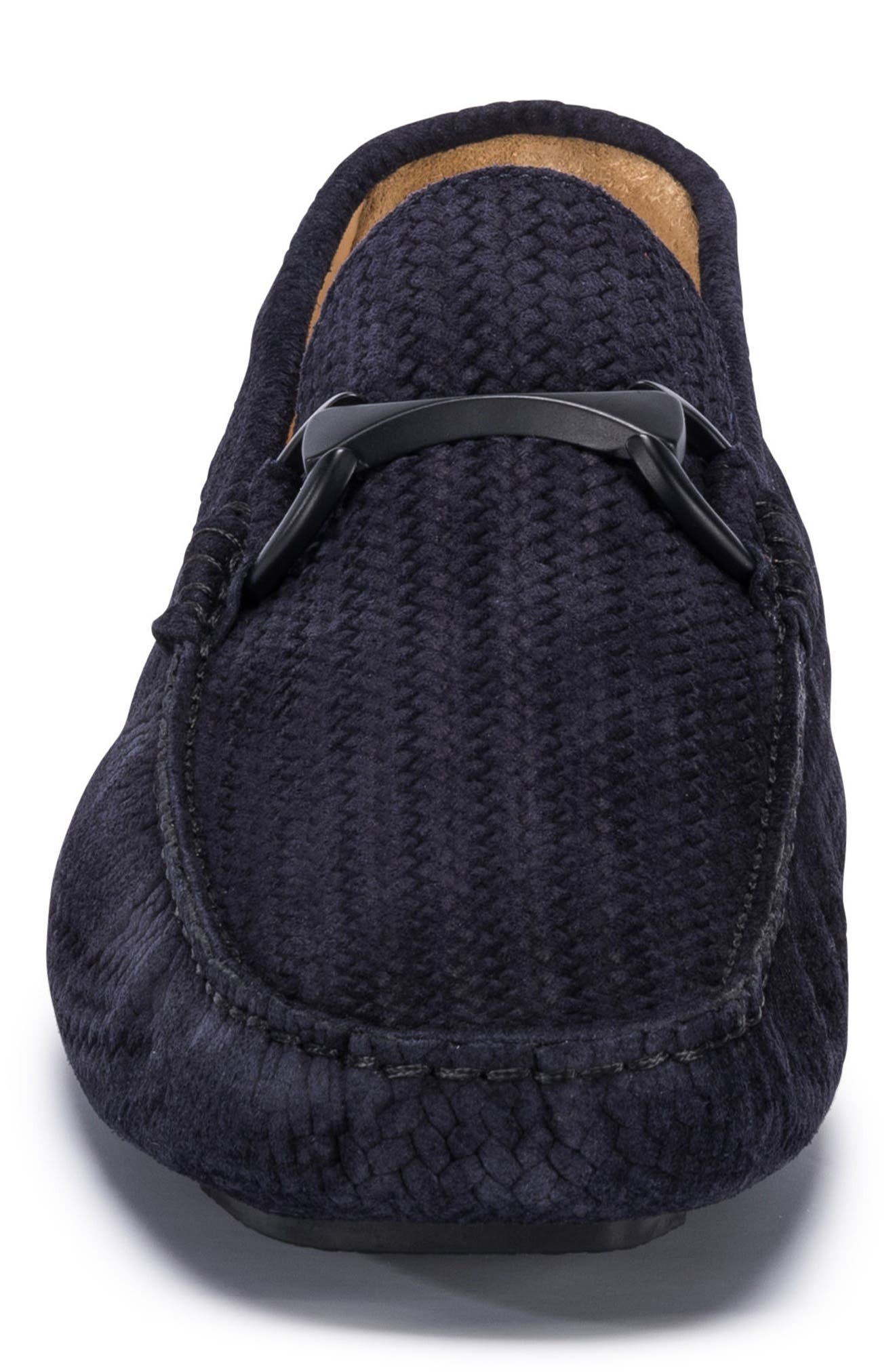 Amalfi Woven Bit Driving Loafer,                             Alternate thumbnail 5, color,                             Blue Suede