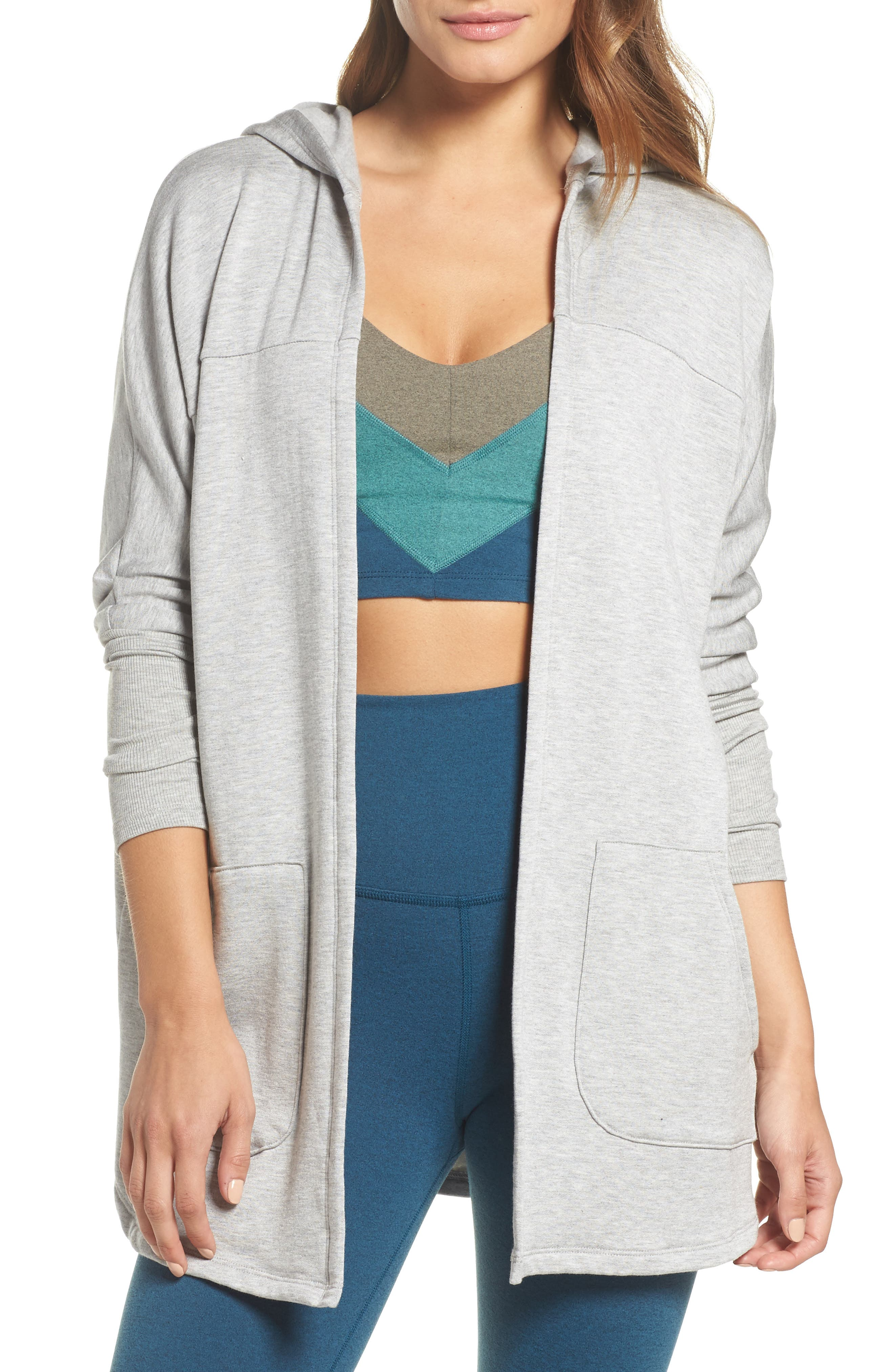 Beyond Yoga Love & Fleece Hooded Cardigan
