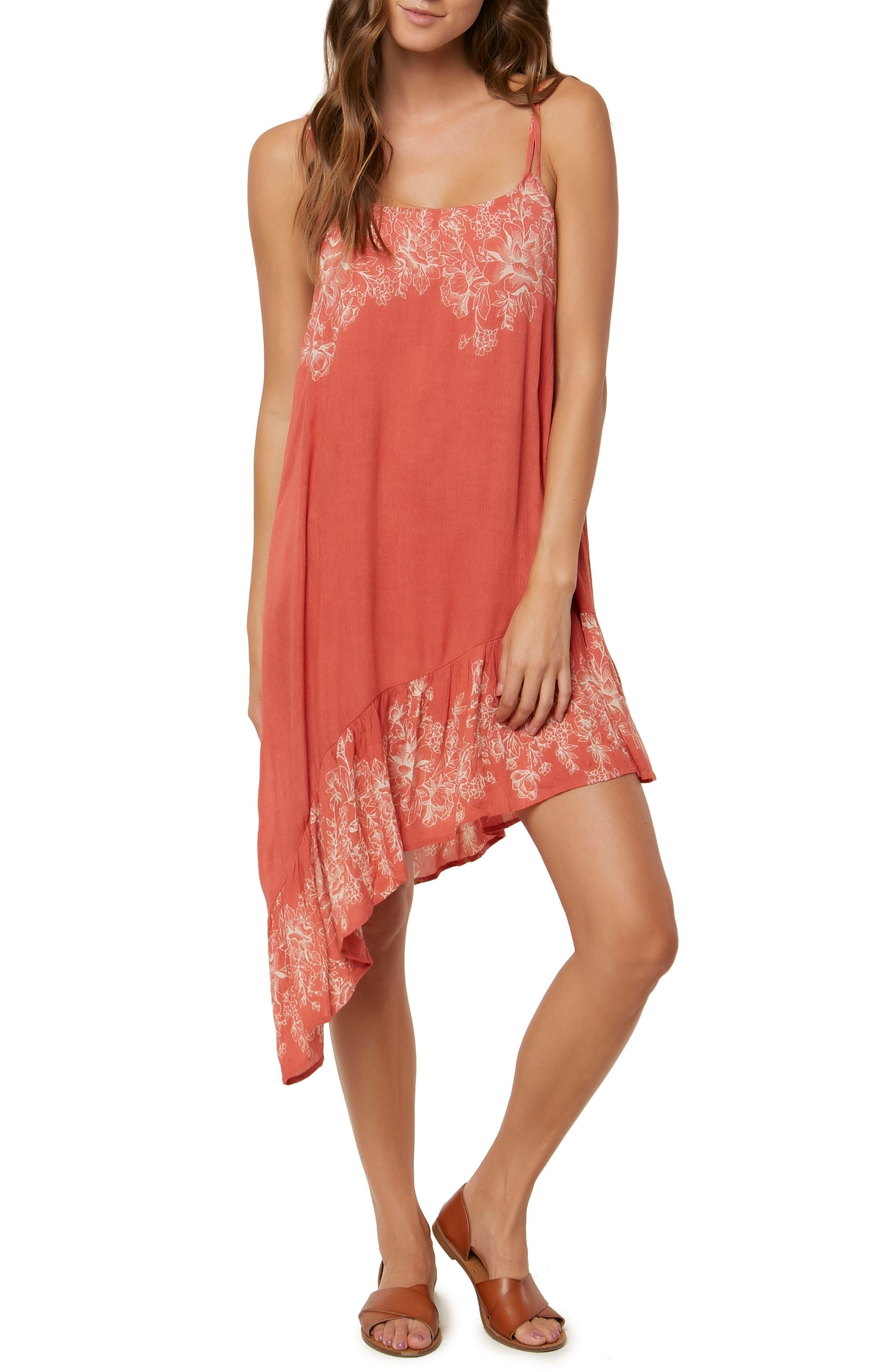 Rosella Asymmetrical Dress,                             Main thumbnail 1, color,                             Faded Rose