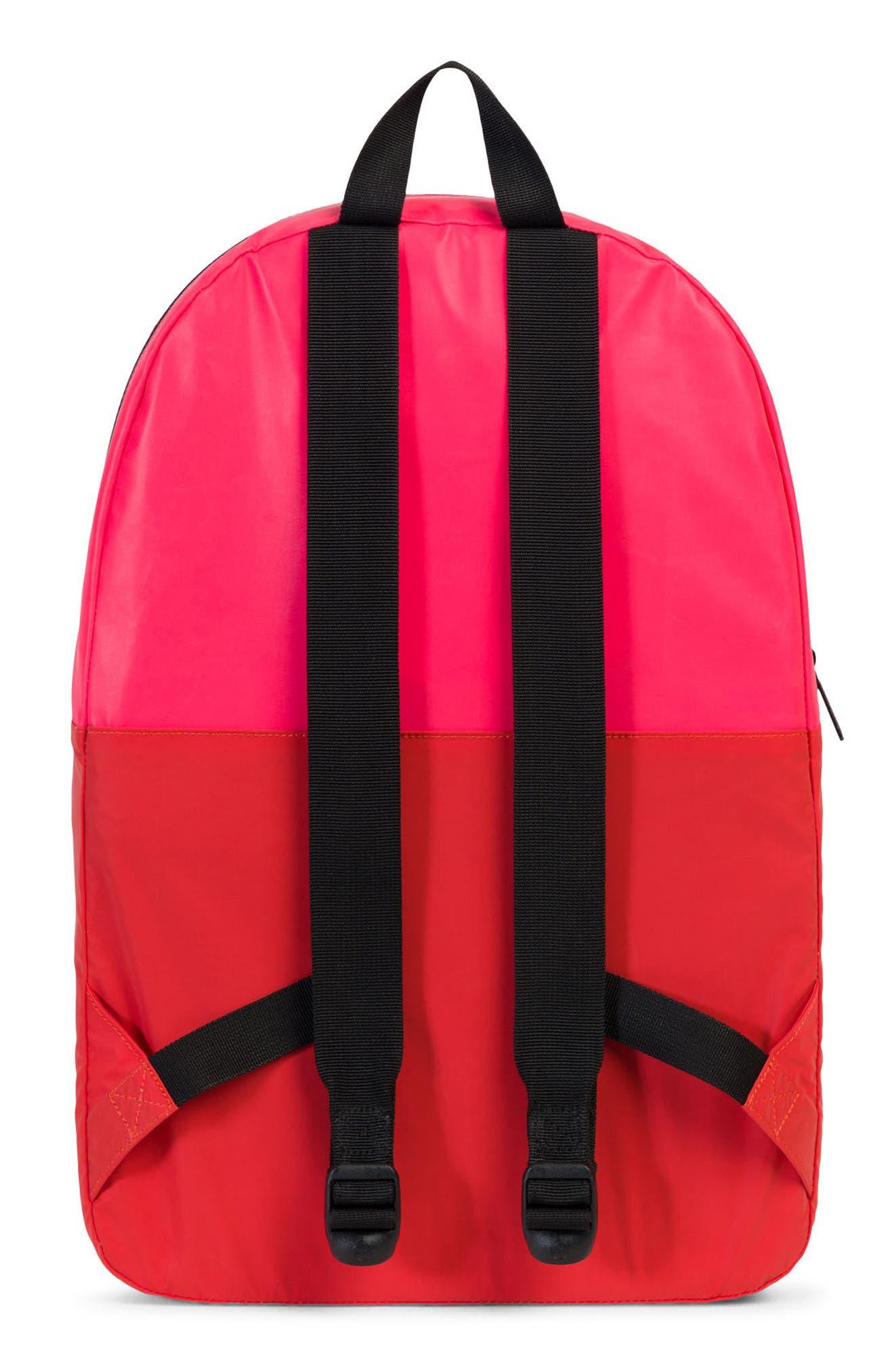 Heritage Reflective Backpack,                             Alternate thumbnail 4, color,                             Neon Pink Reflective/ Red