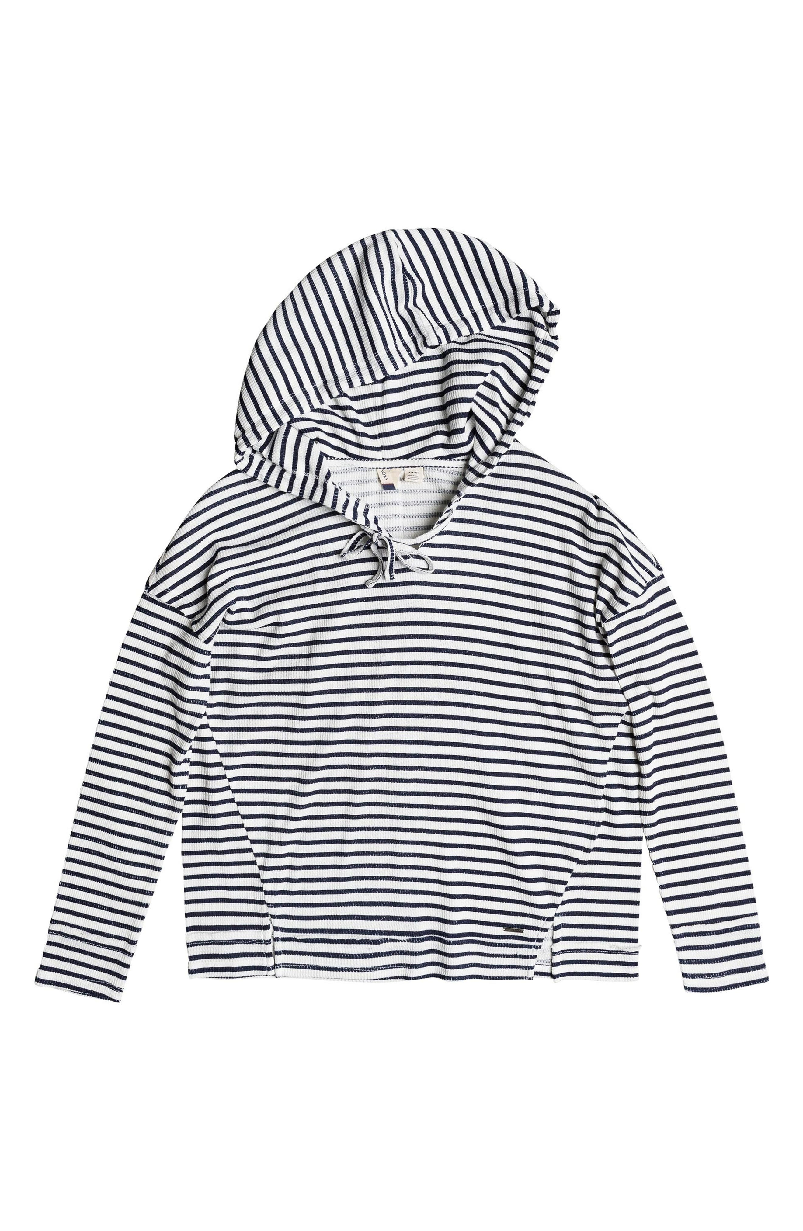 Wanted and Wild Thermal Hooded Top,                             Alternate thumbnail 5, color,                             Marshmallow Classic Stripe Vol
