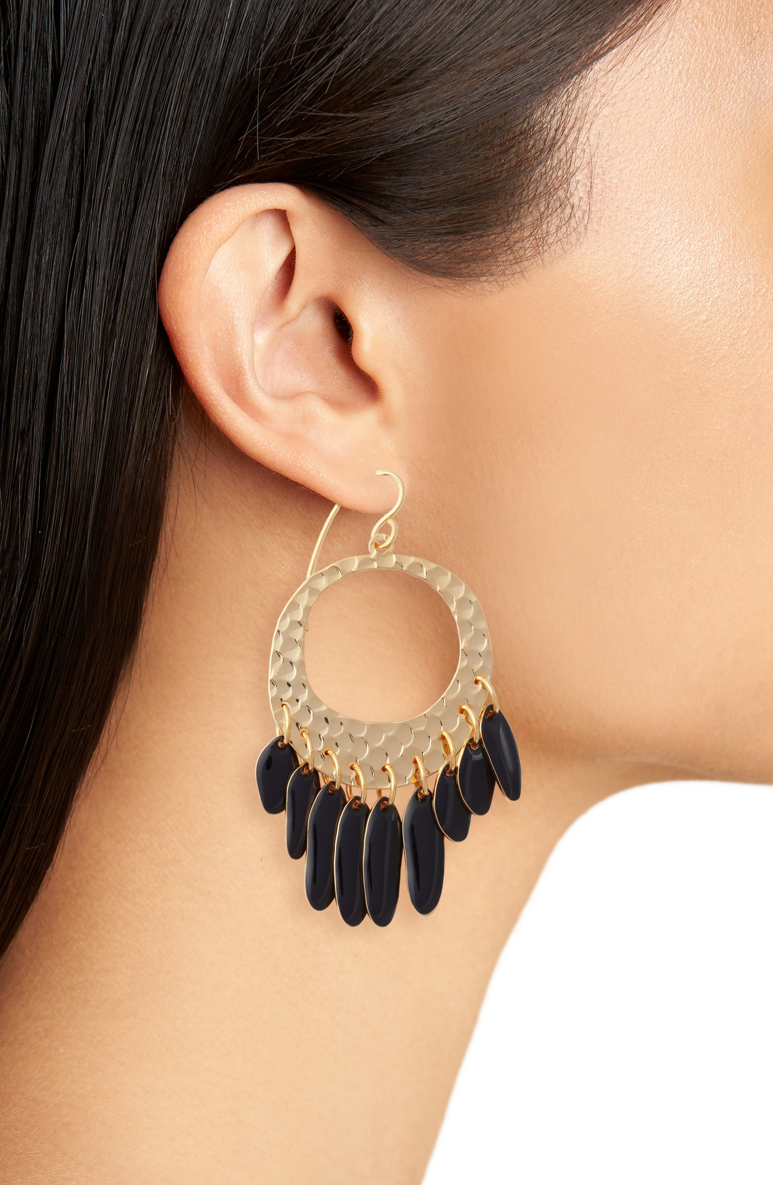 Alternate Image 2  - DVF Tassel Hoop Earrings
