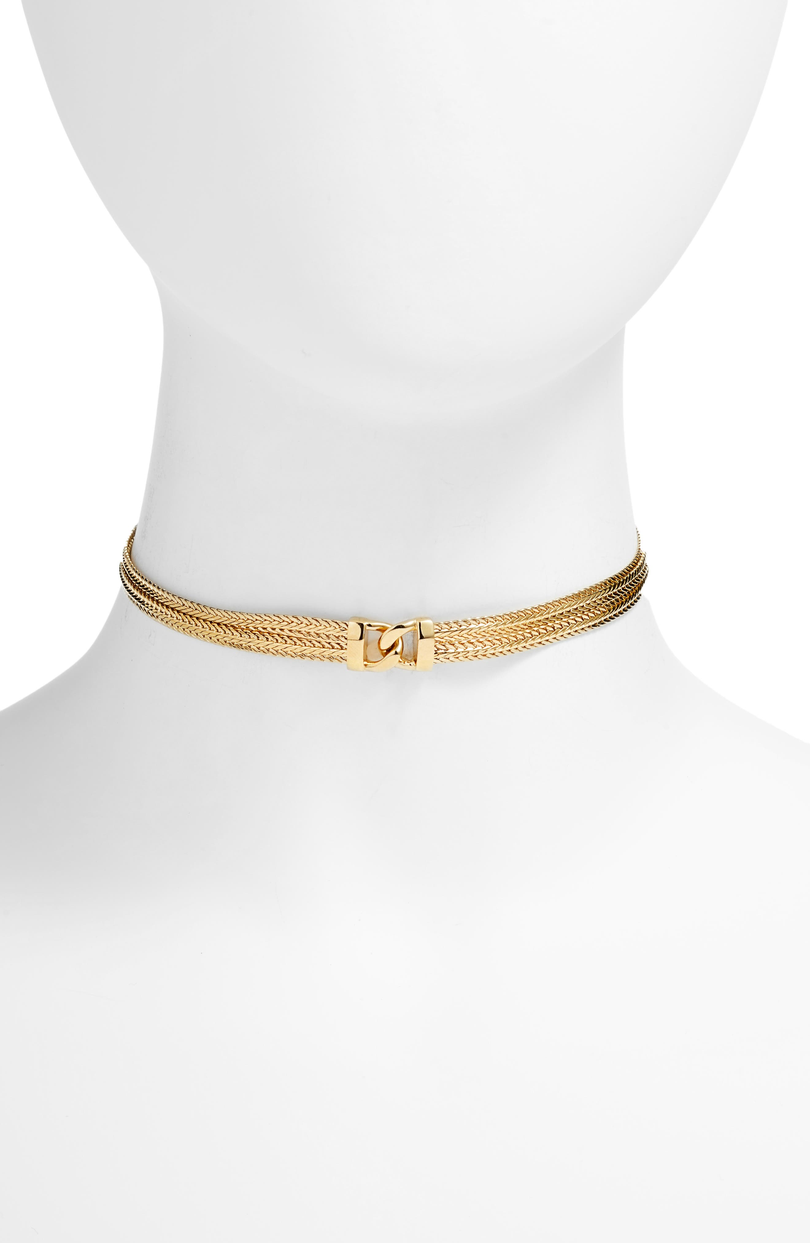 FIVE AND TWO GEMMA CHOKER NECKLACE