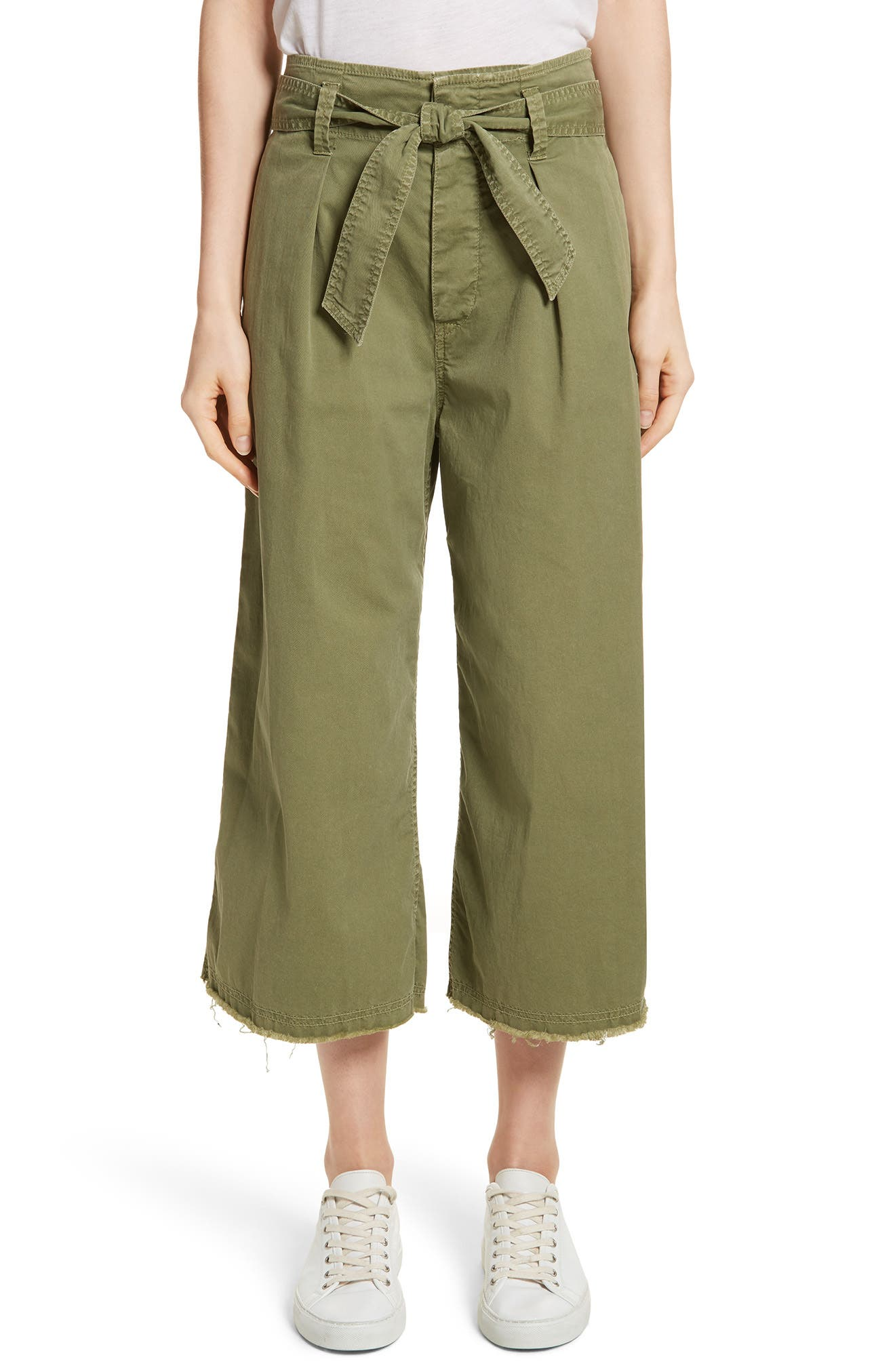 Ellie Drop Rise Culottes,                         Main,                         color, Army Green