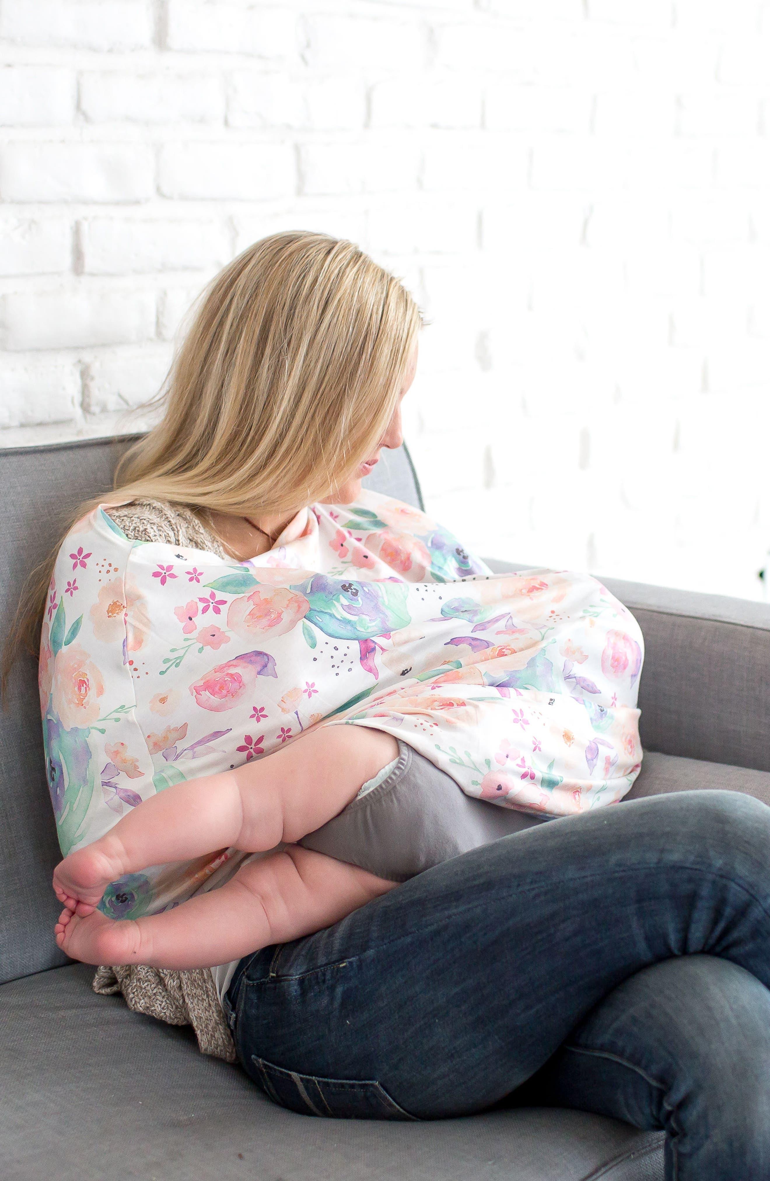 Bloom Multiuse Cover & Swaddle Blanket Gift Set,                             Alternate thumbnail 11, color,                             Bloom