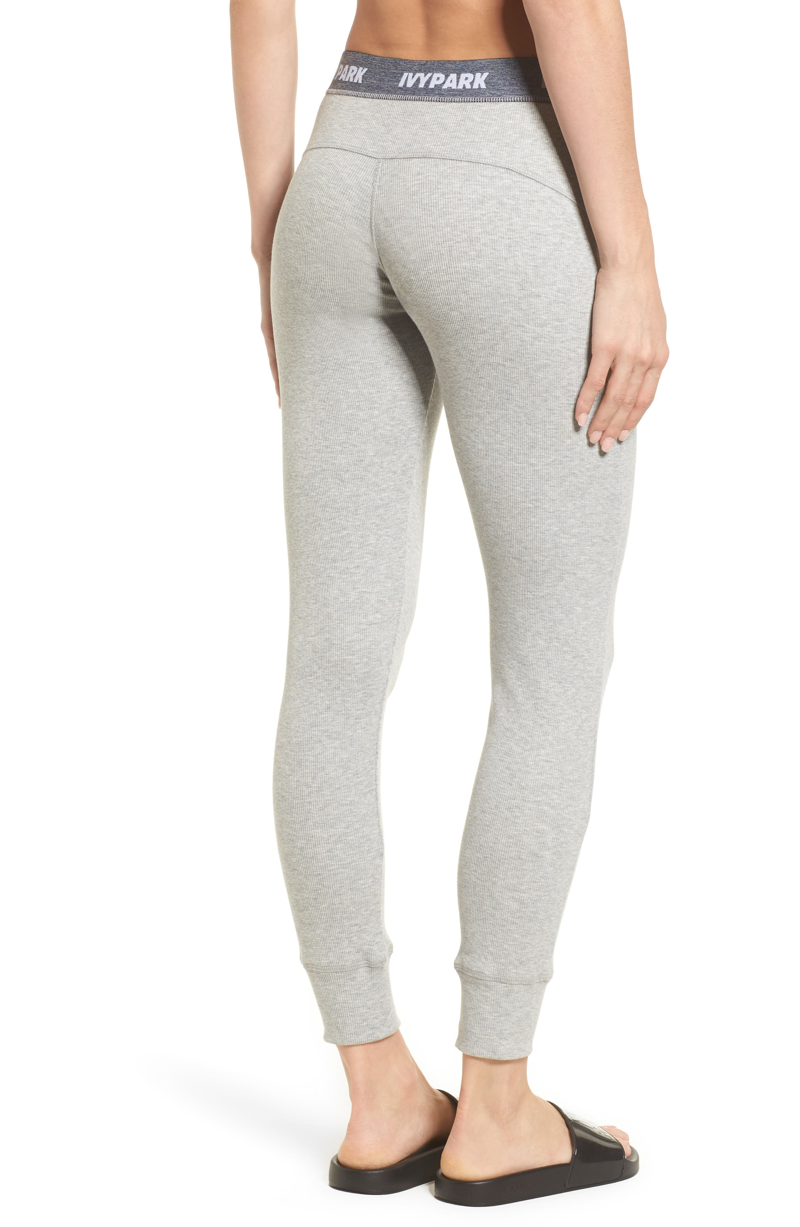 Loose Fit Marl Rib Leggings,                             Alternate thumbnail 2, color,                             Grey Marl