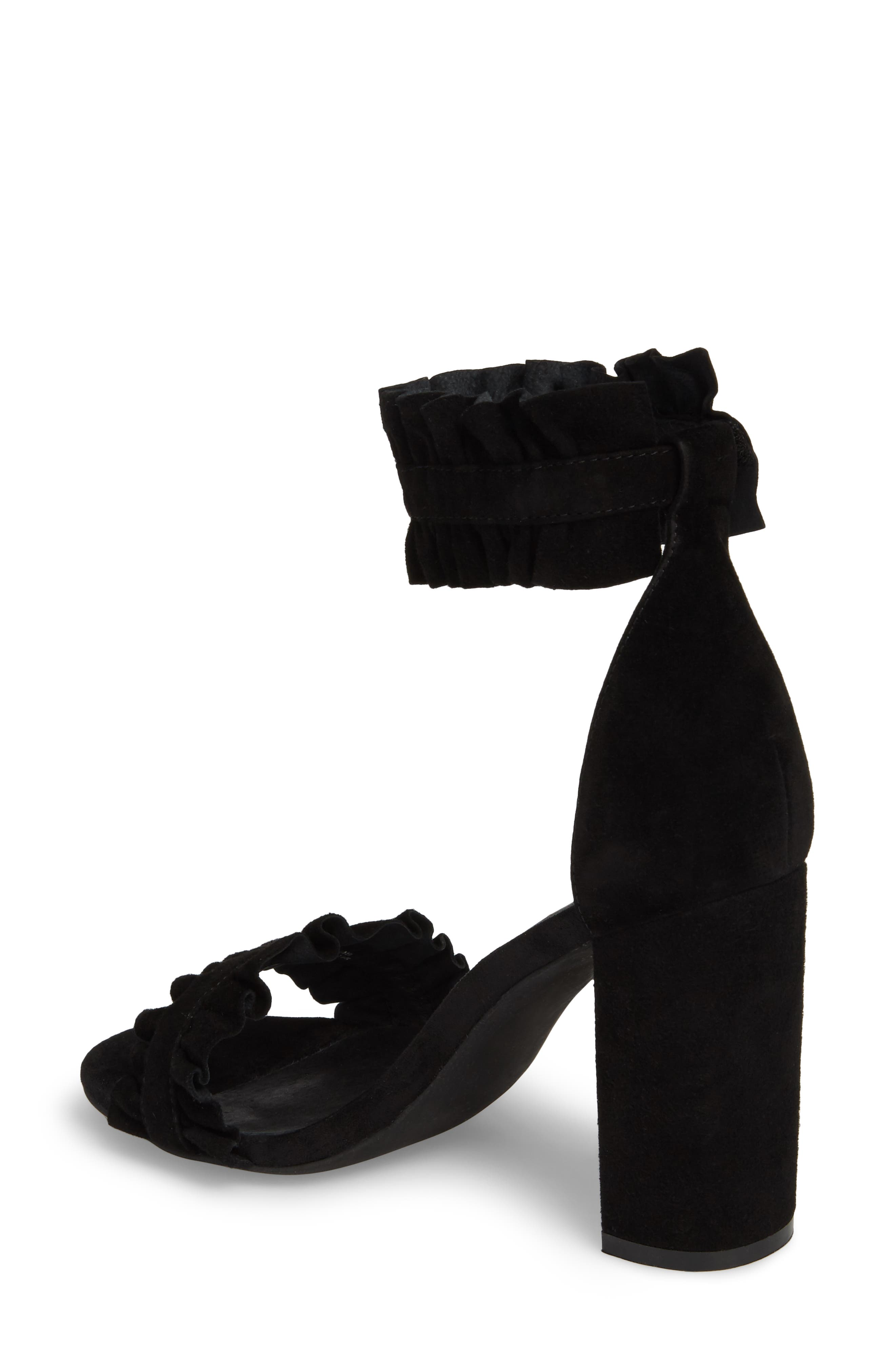 Lindsay Dome Studded Sandal,                             Alternate thumbnail 2, color,                             Black Suede
