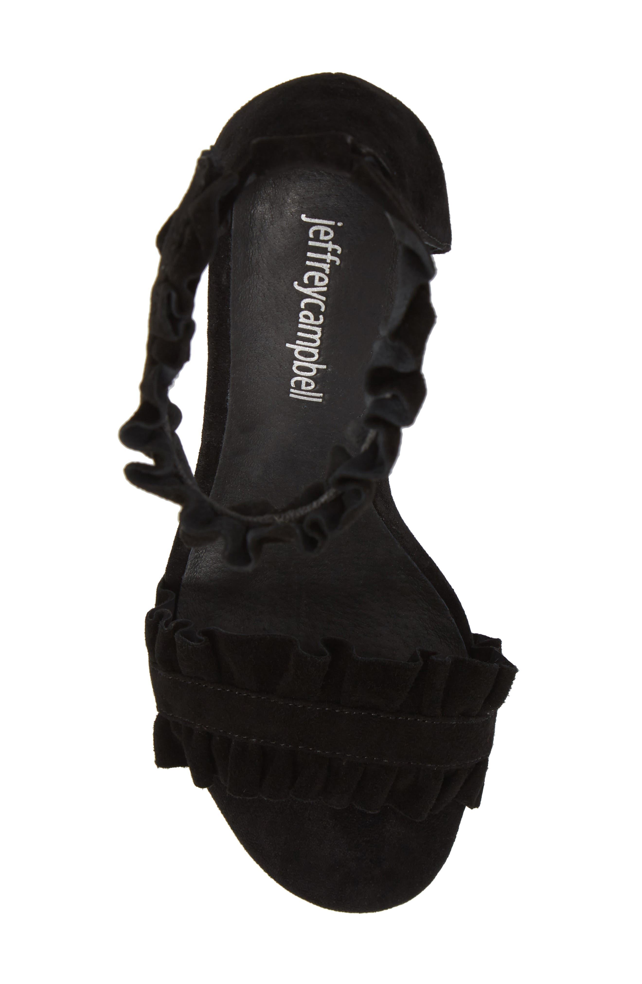 Lindsay Dome Studded Sandal,                             Alternate thumbnail 5, color,                             Black Suede