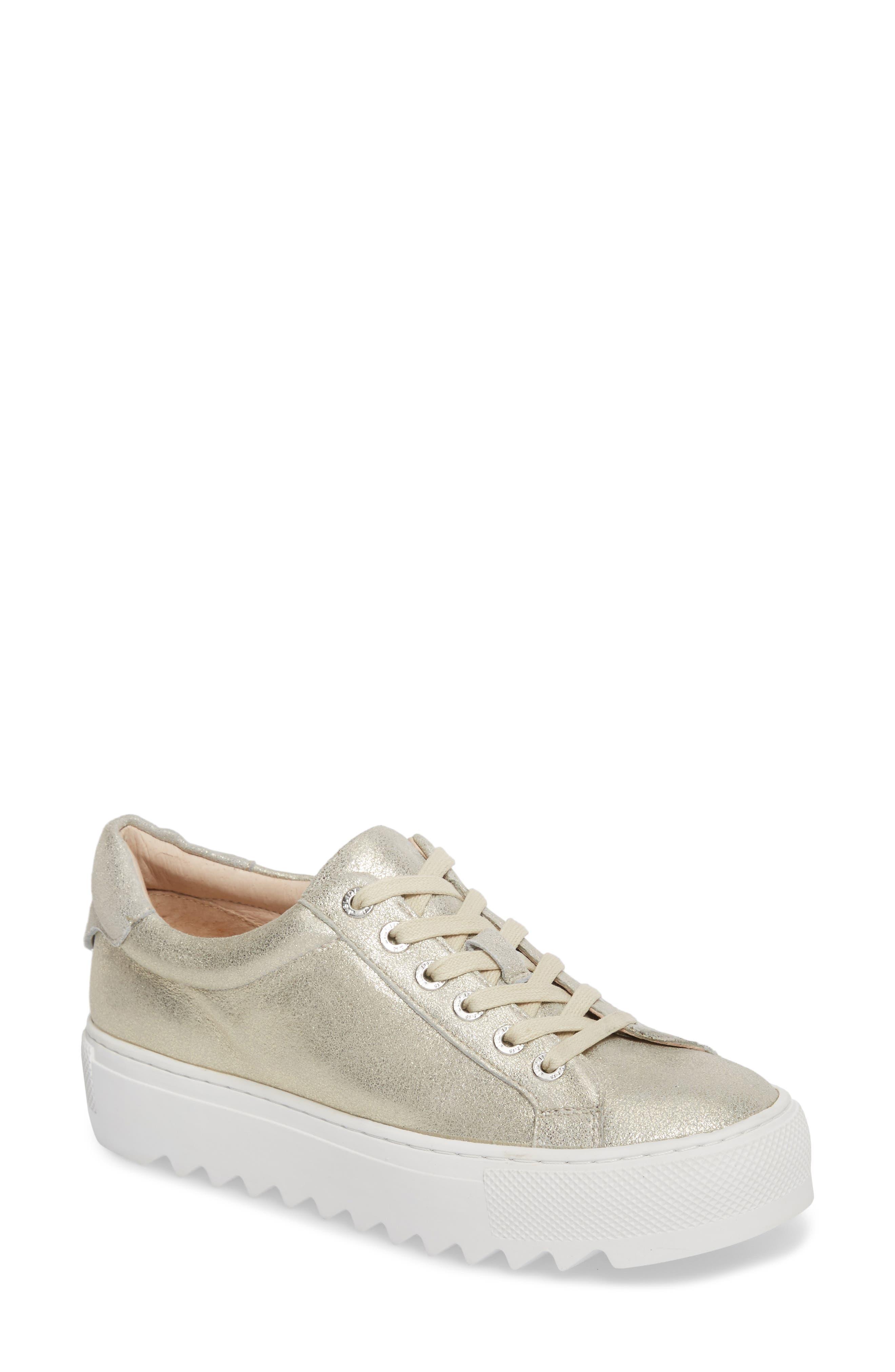 Sapphire Platform Sneaker,                         Main,                         color, Platino Leather