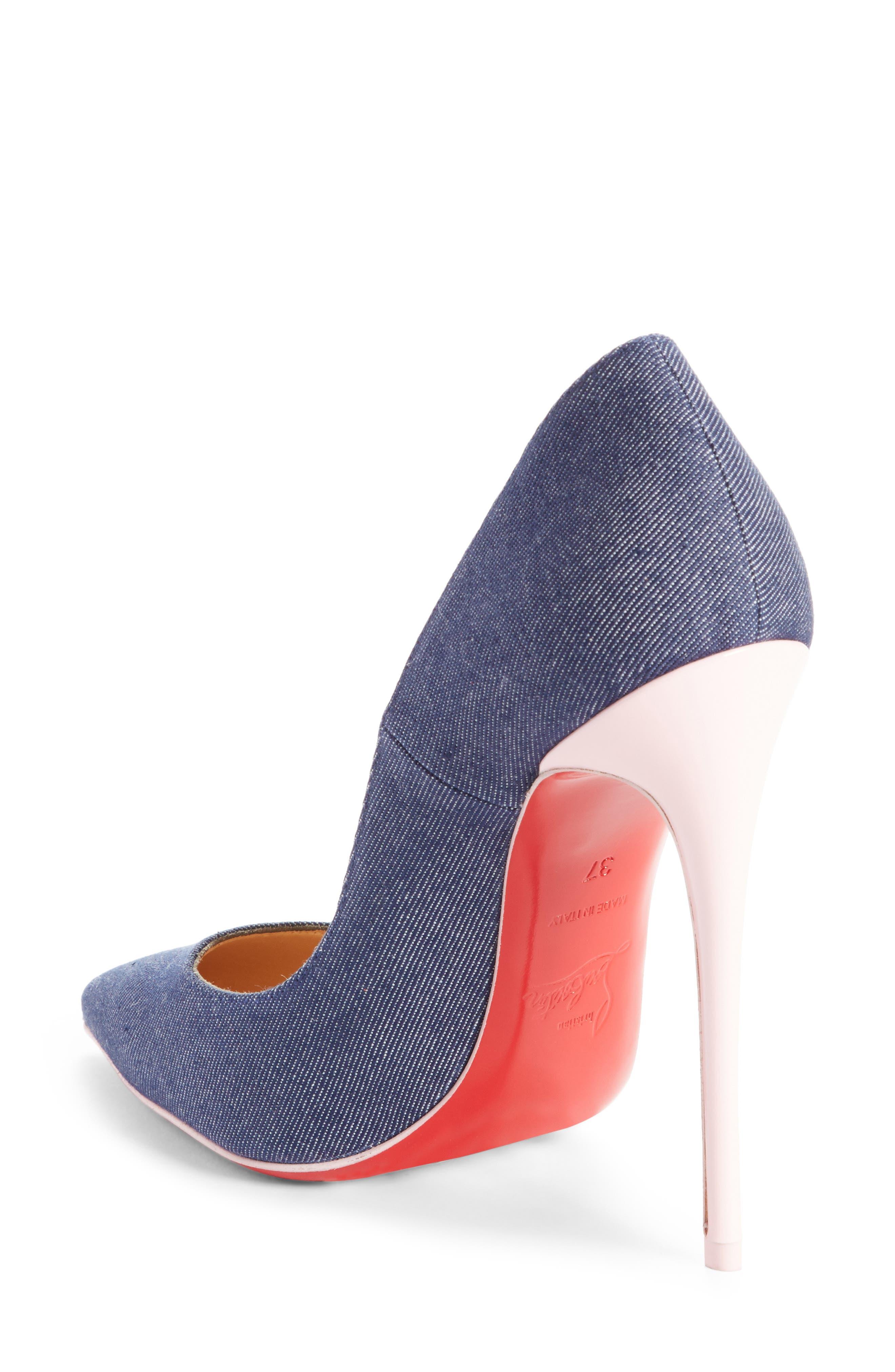 So Kate Pointy Toe Pump,                             Alternate thumbnail 2, color,                             Blue/ Pompadour