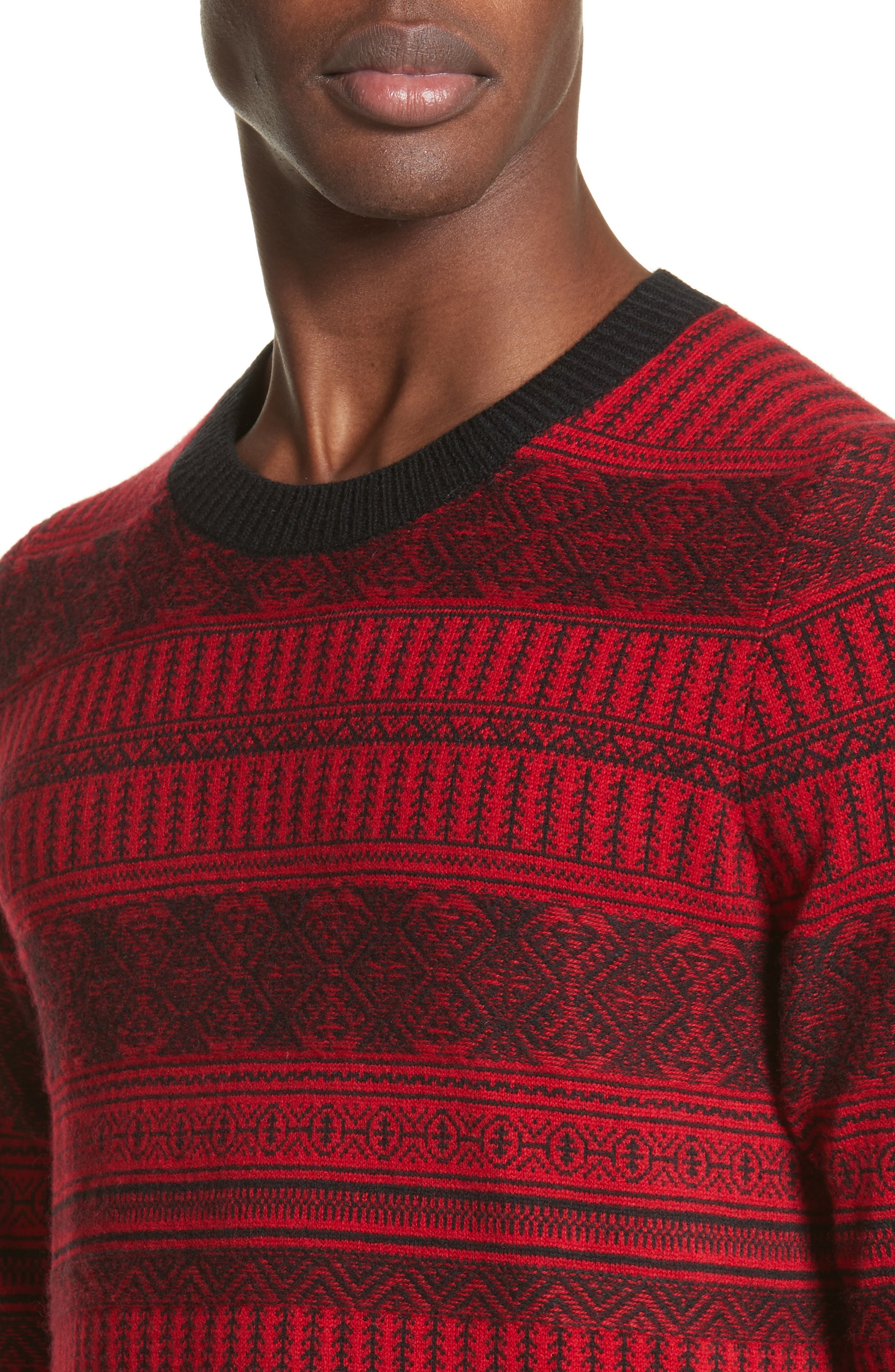 Tredway Wool & Cashmere Sweater,                             Alternate thumbnail 4, color,                             Military Red