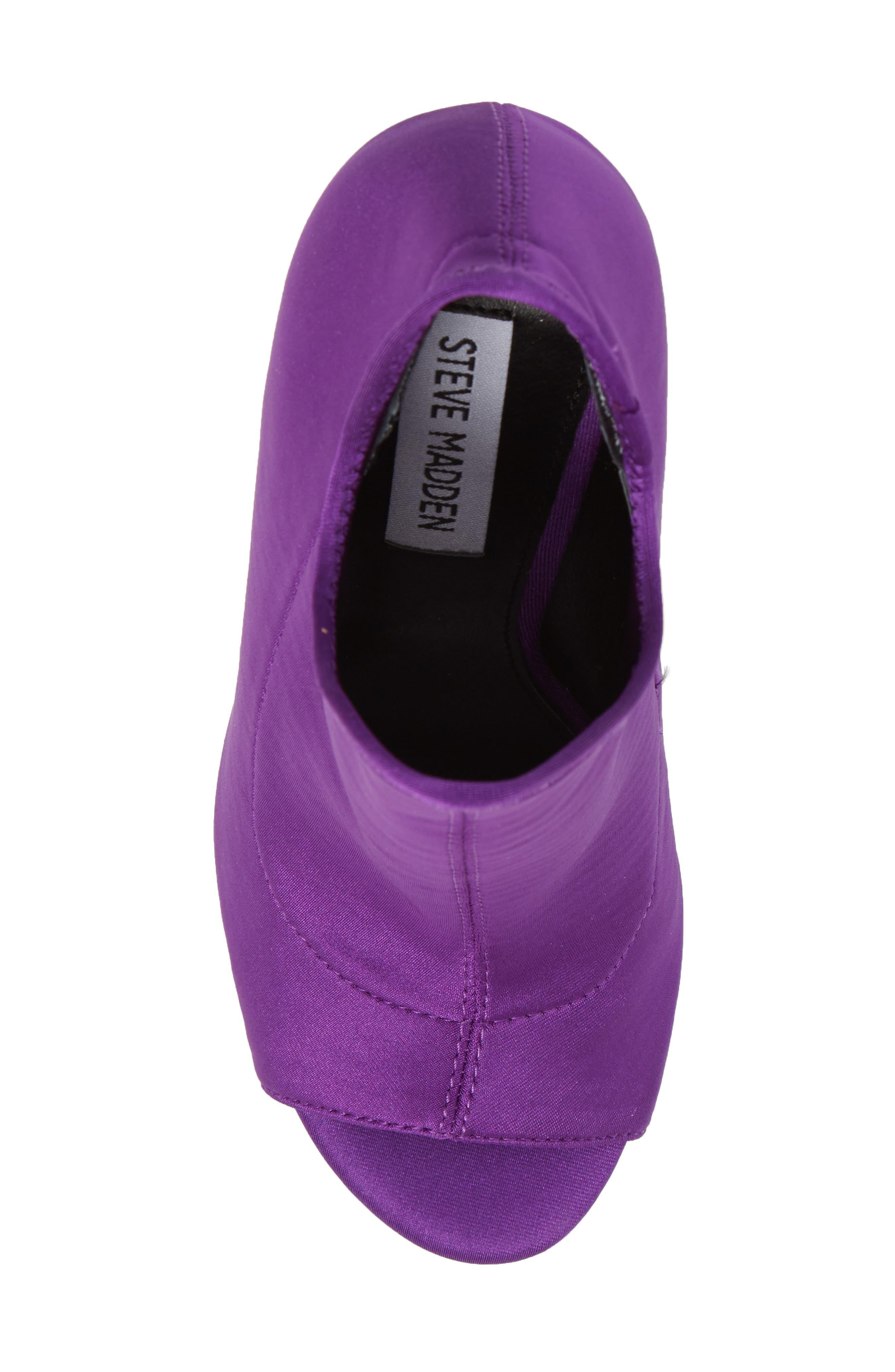 Secure Sock Bootie,                             Alternate thumbnail 5, color,                             Purple