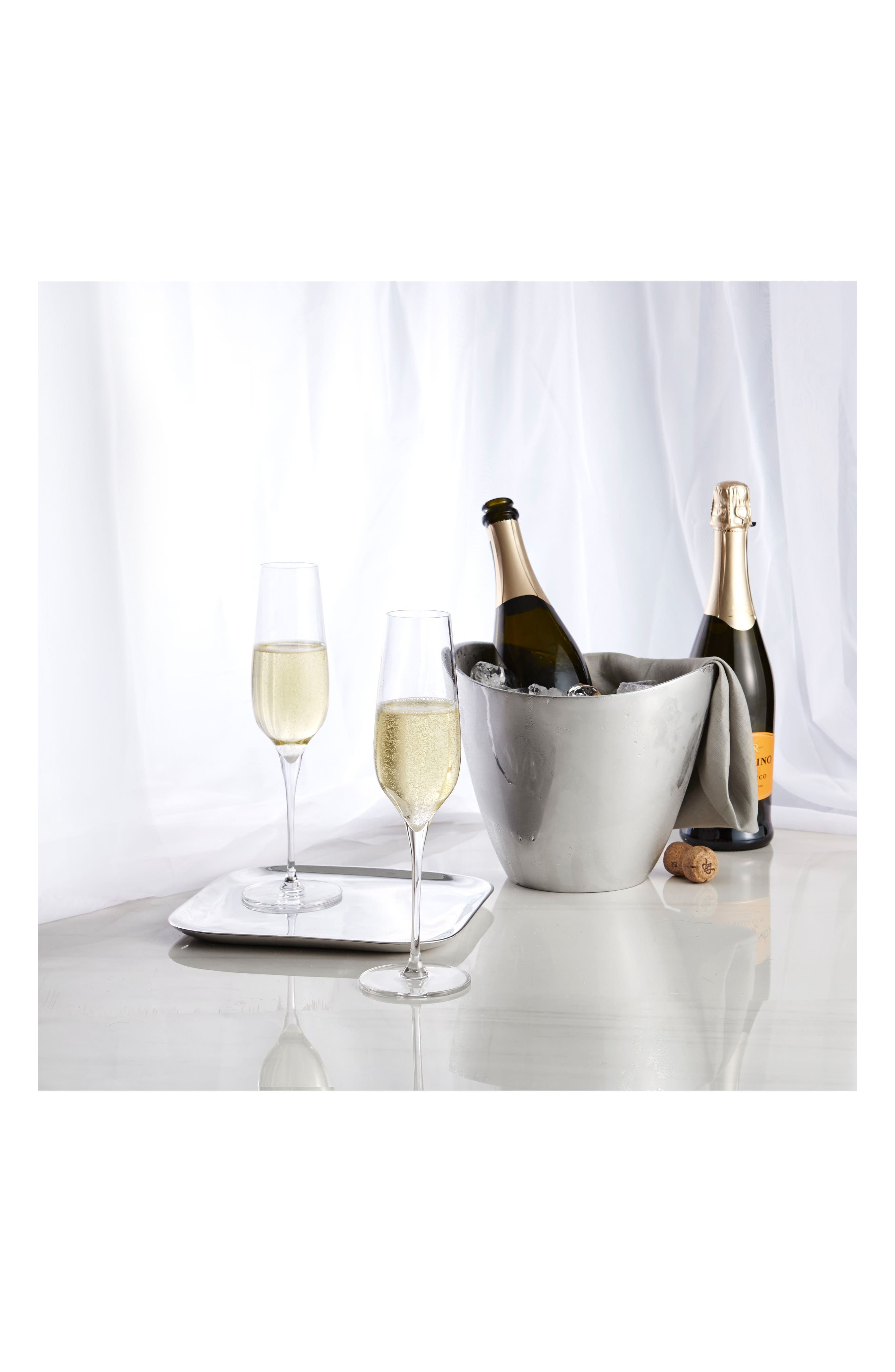 Vie Set of 2 Champagne Flutes,                             Alternate thumbnail 2, color,                             Clear