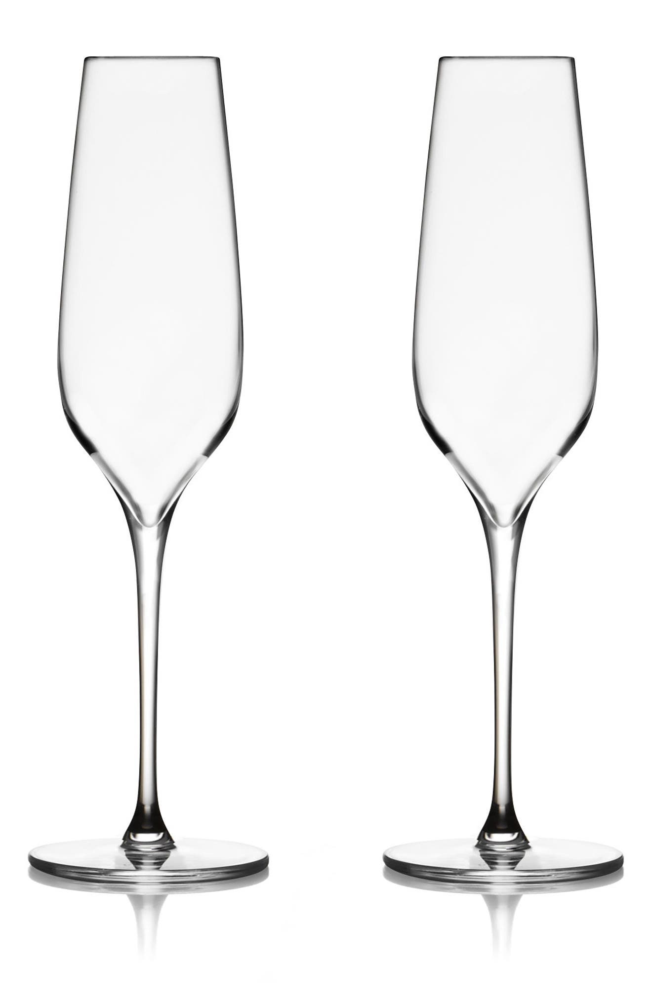 Vie Set of 2 Champagne Flutes,                         Main,                         color, Clear