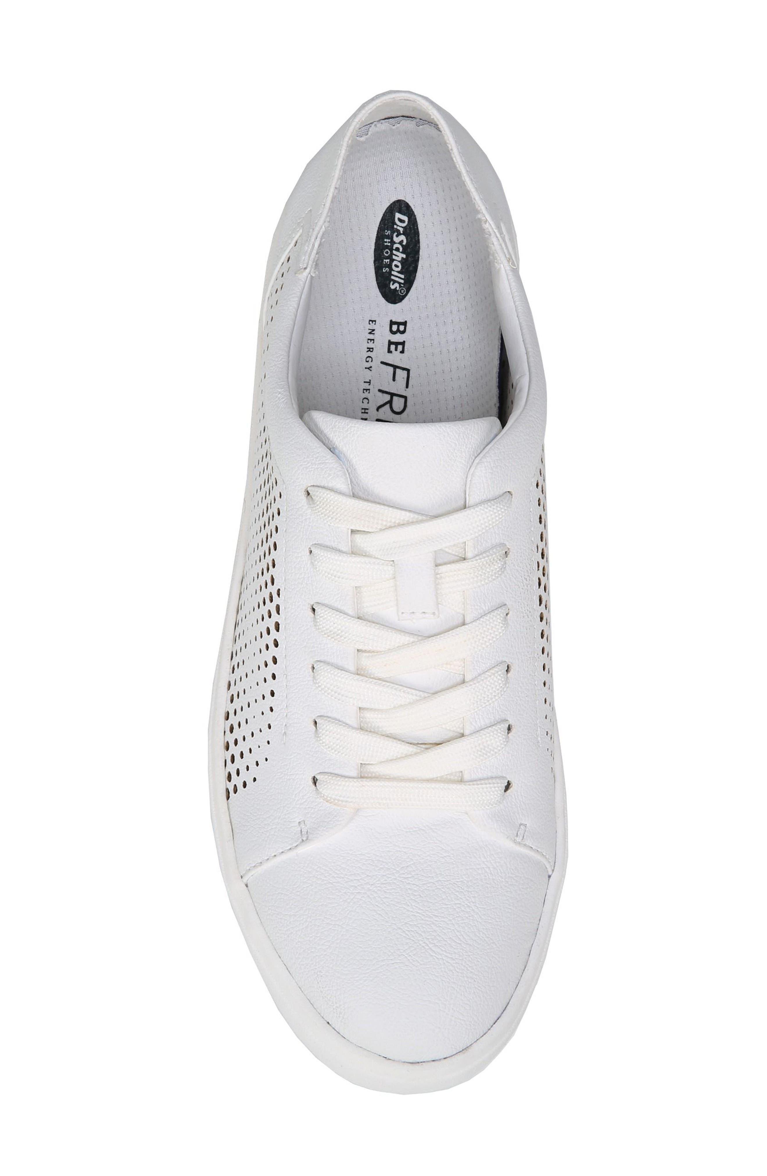 Kinney Platform Sneaker,                             Alternate thumbnail 5, color,                             White