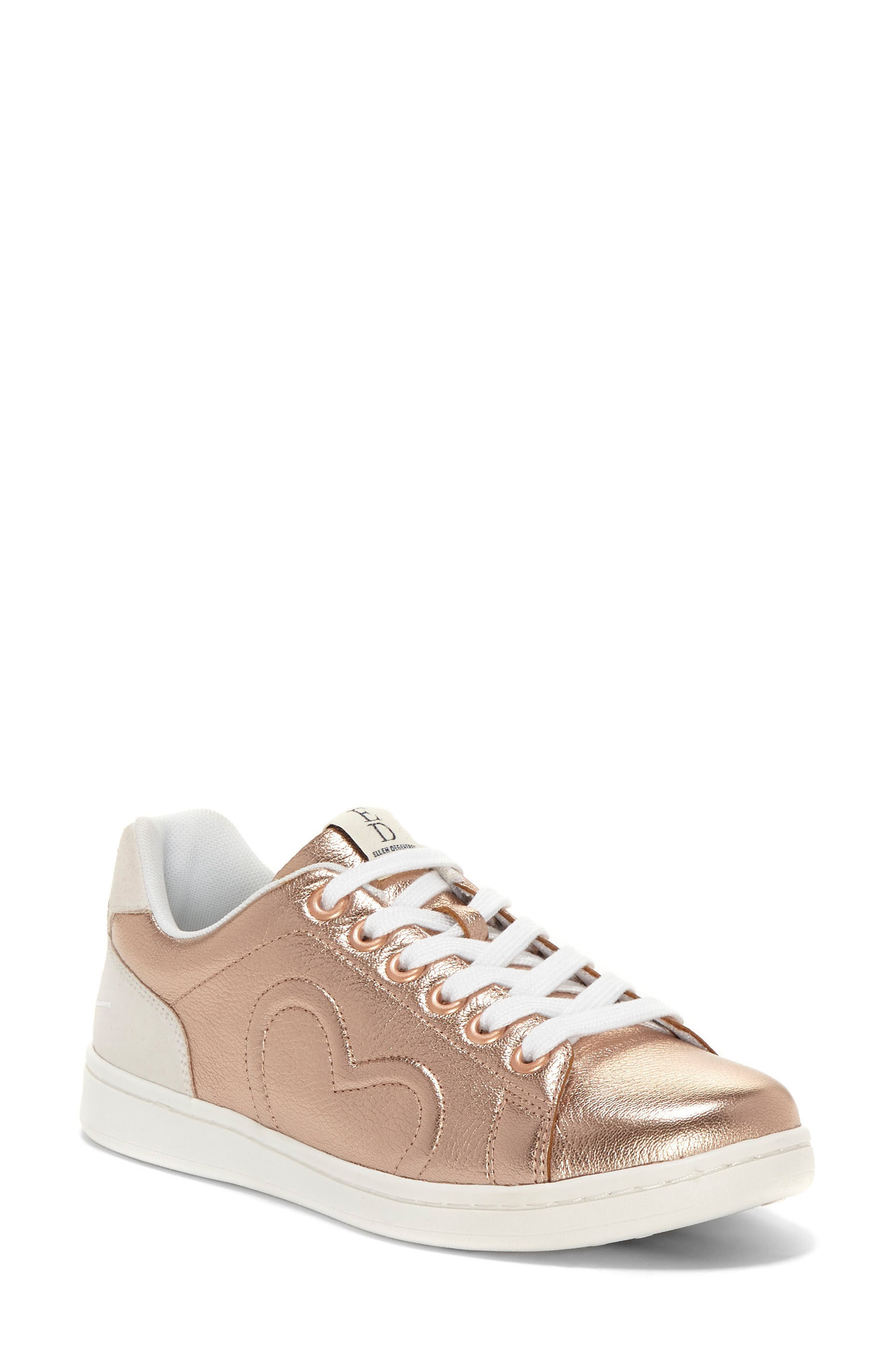 Chapunto Sneaker,                         Main,                         color, Rose Gold Leather