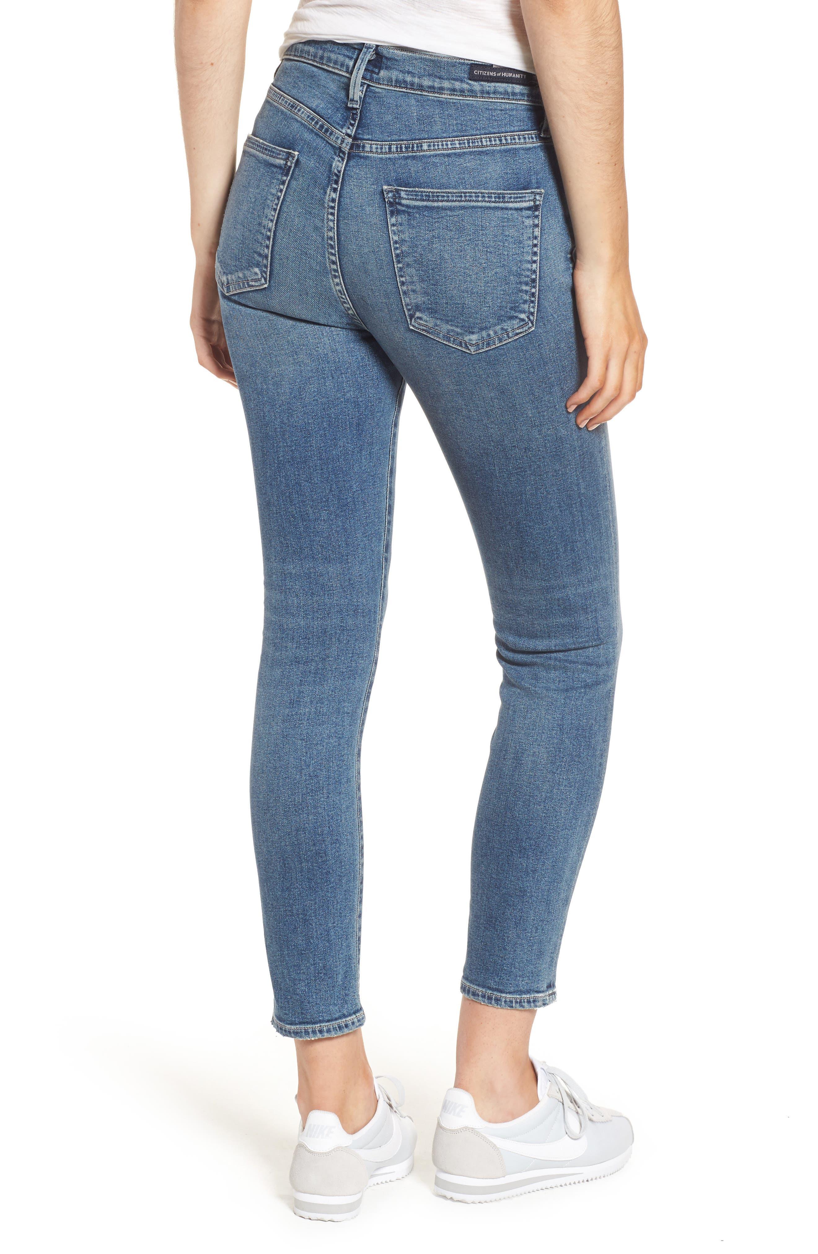 Rocket Crop Skinny Jeans,                             Alternate thumbnail 2, color,                             Orbit