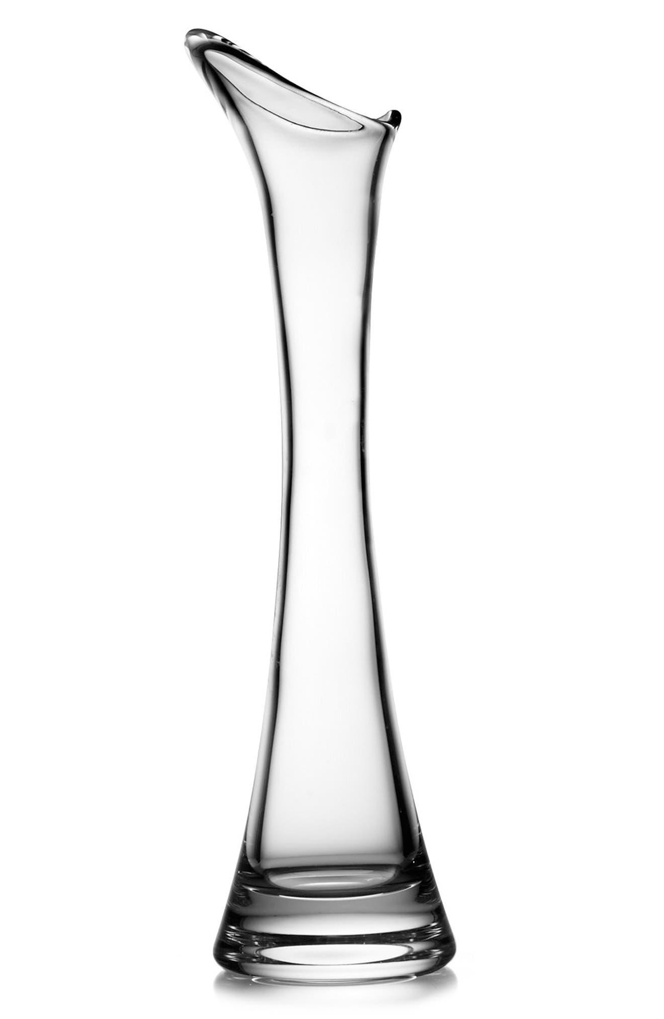 Moderne Tall Vase,                             Main thumbnail 1, color,                             Clear