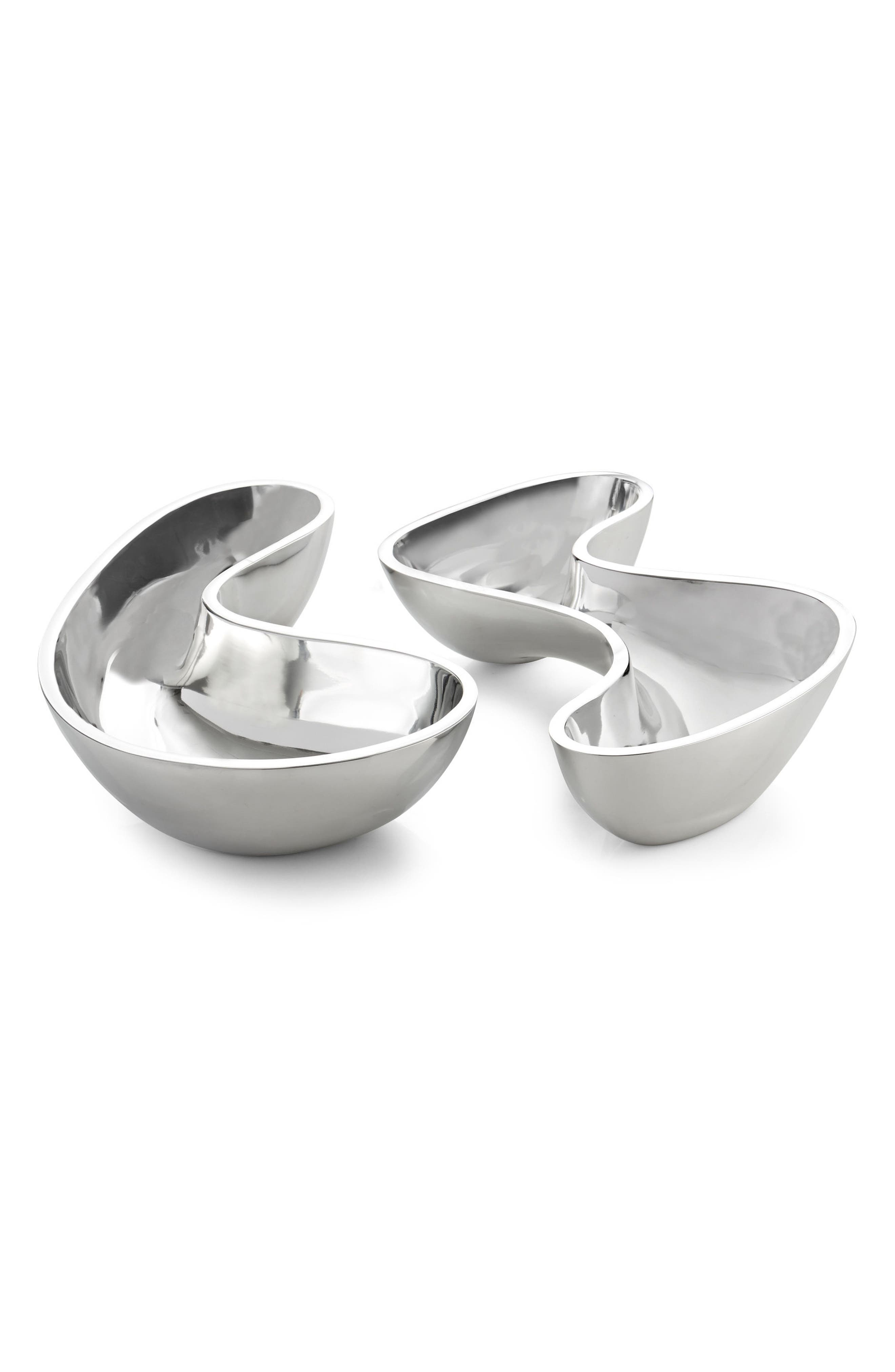 SixtyFive 65 Set of 2 Bowls,                         Main,                         color, Silver
