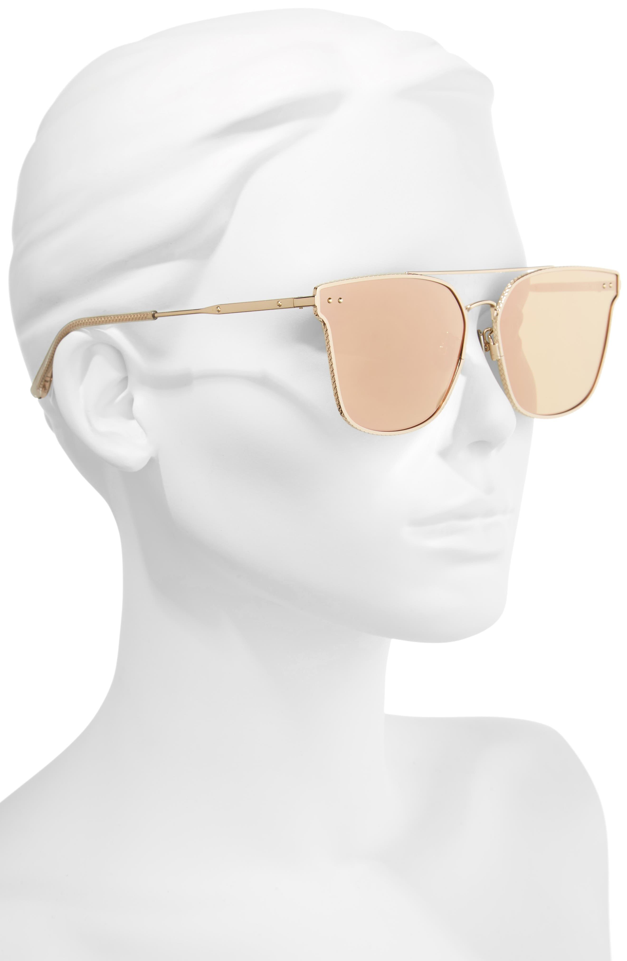 64mm Sunglasses,                             Alternate thumbnail 2, color,                             Gold