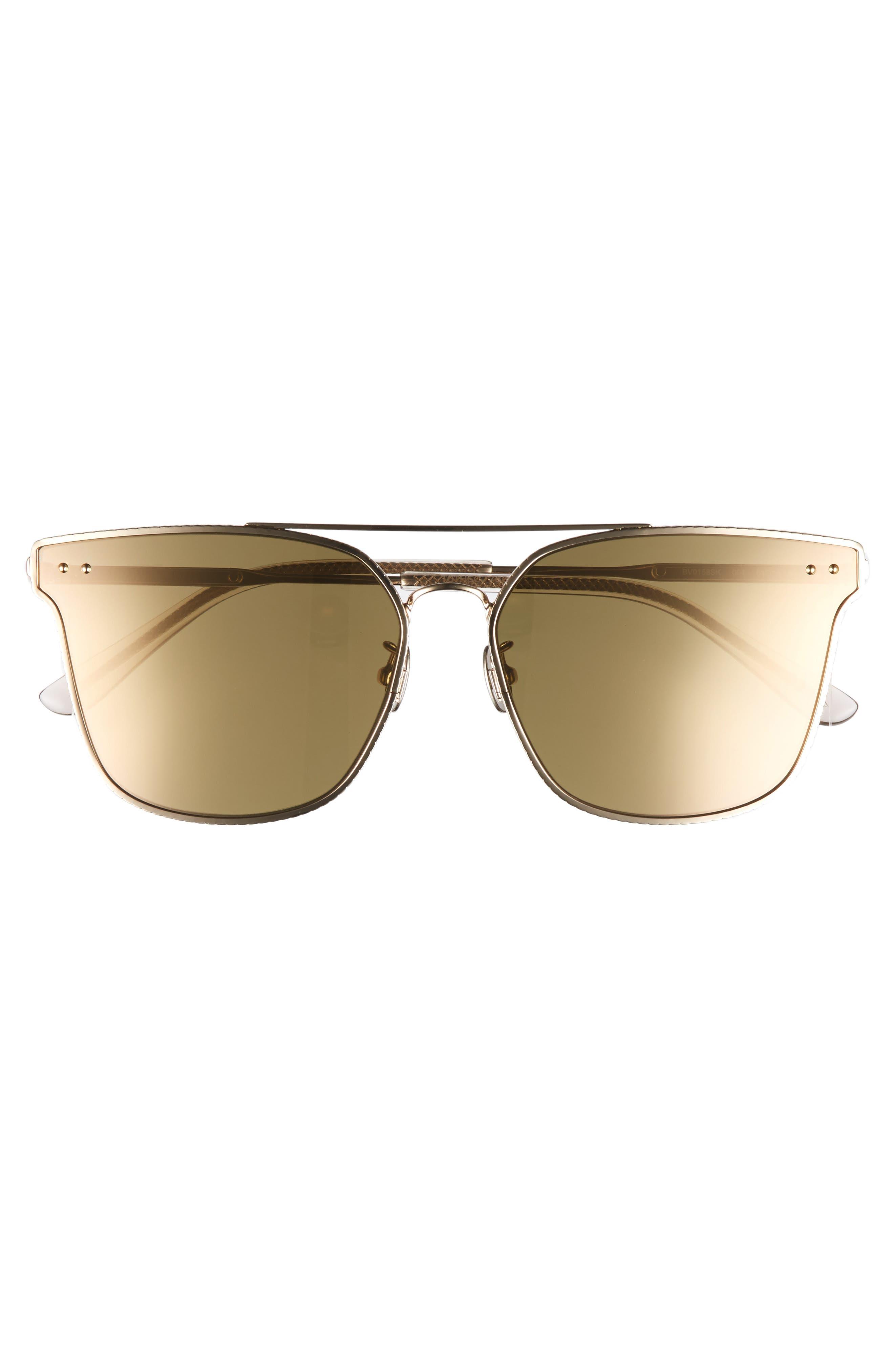 64mm Sunglasses,                             Alternate thumbnail 3, color,                             Gold