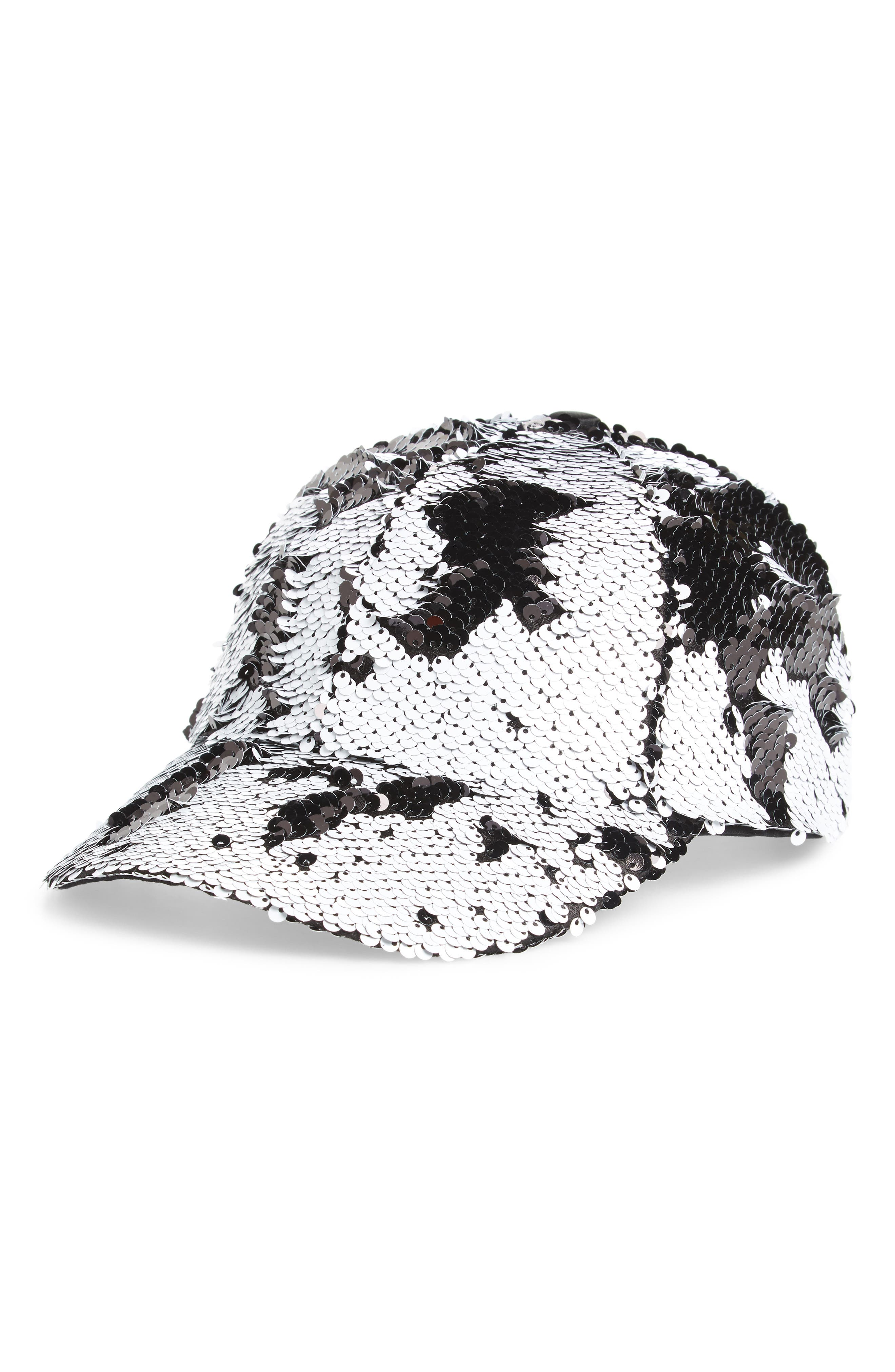 Alternate Image 1 Selected - Steve Madden Sequin Baseball Cap