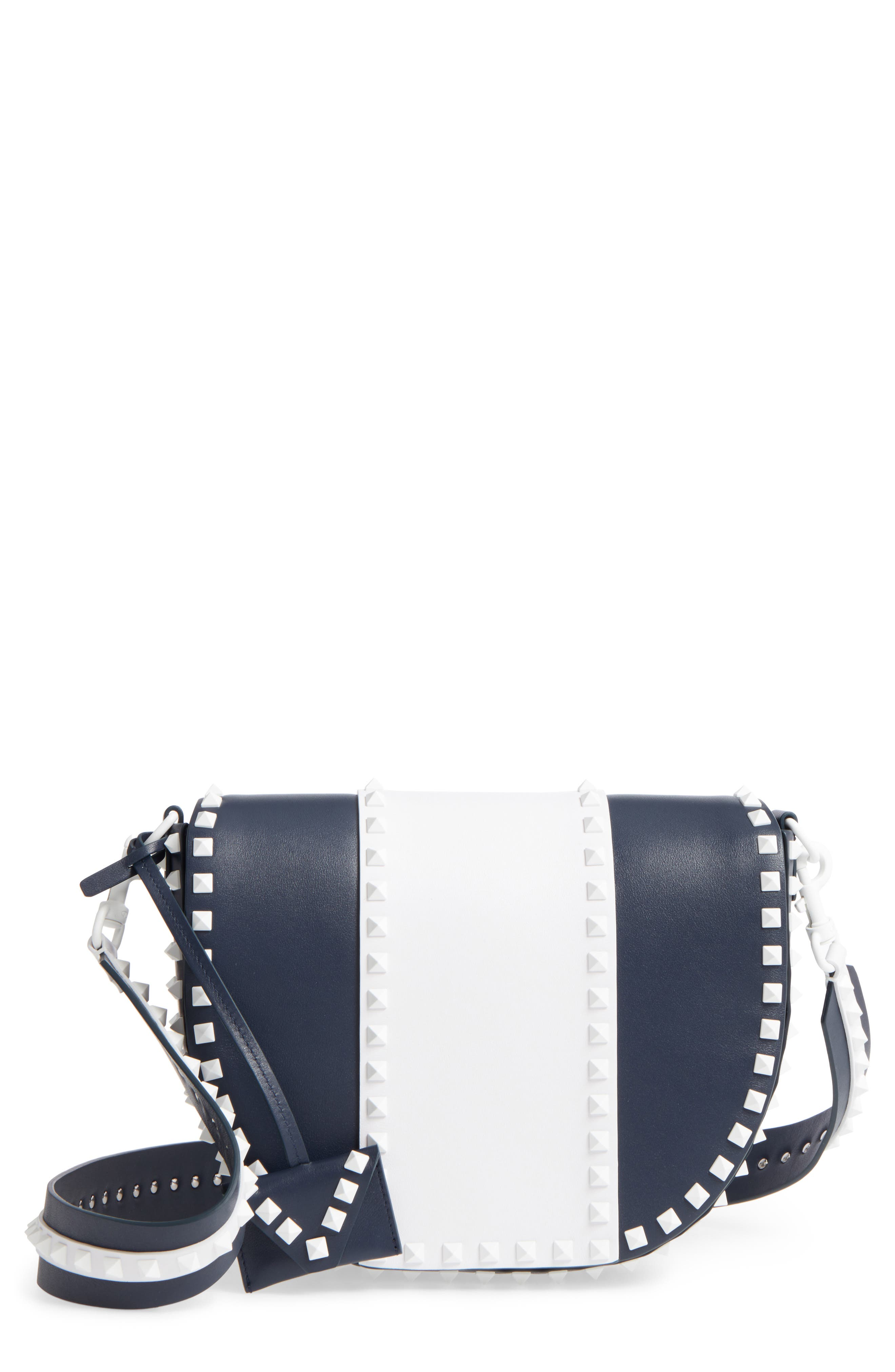 Main Image - VALENTINO GARAVANI Rockstud Leather Saddle Bag