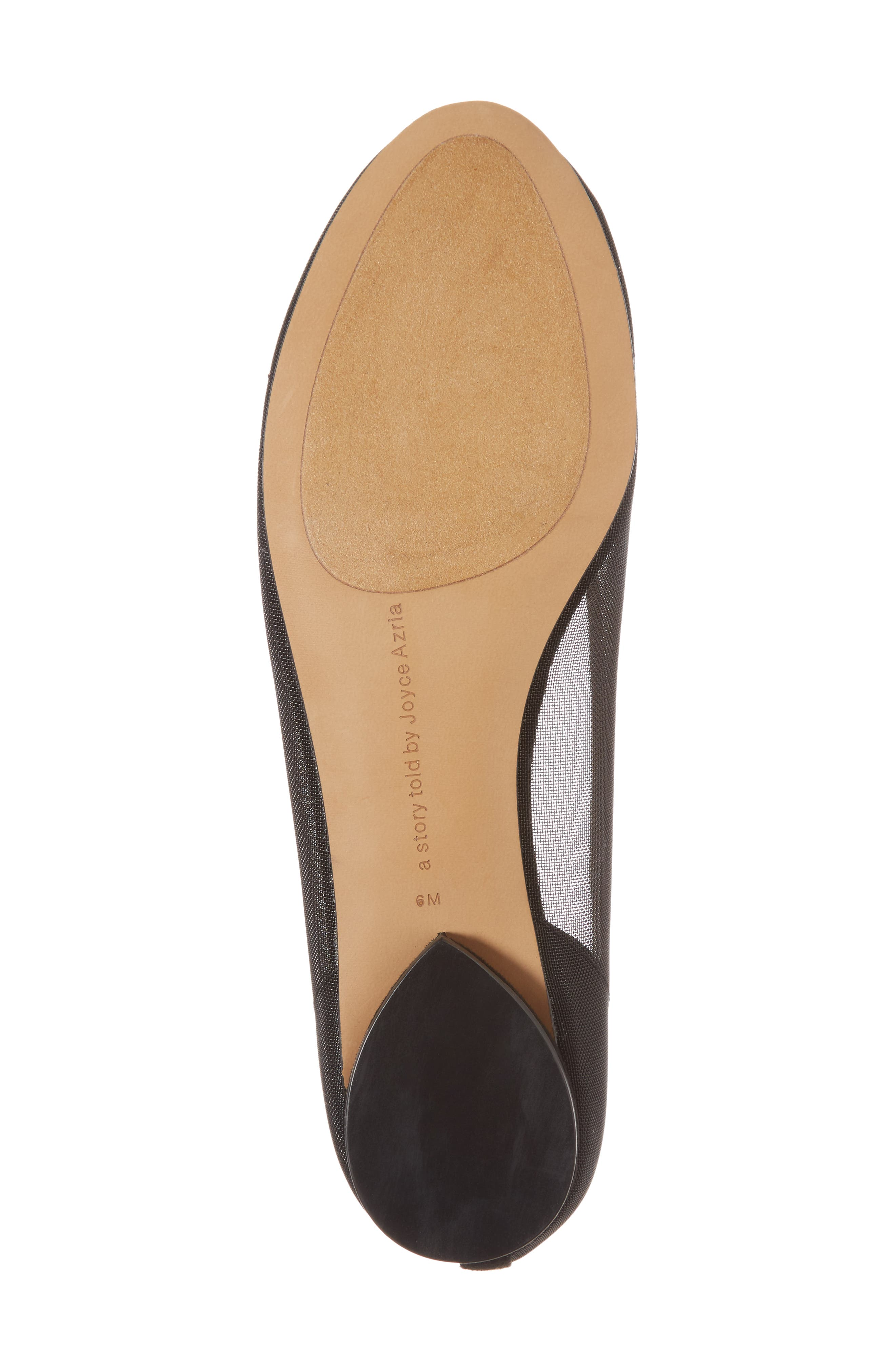 Marian Mesh Inset Flat,                             Alternate thumbnail 6, color,                             Black Suede