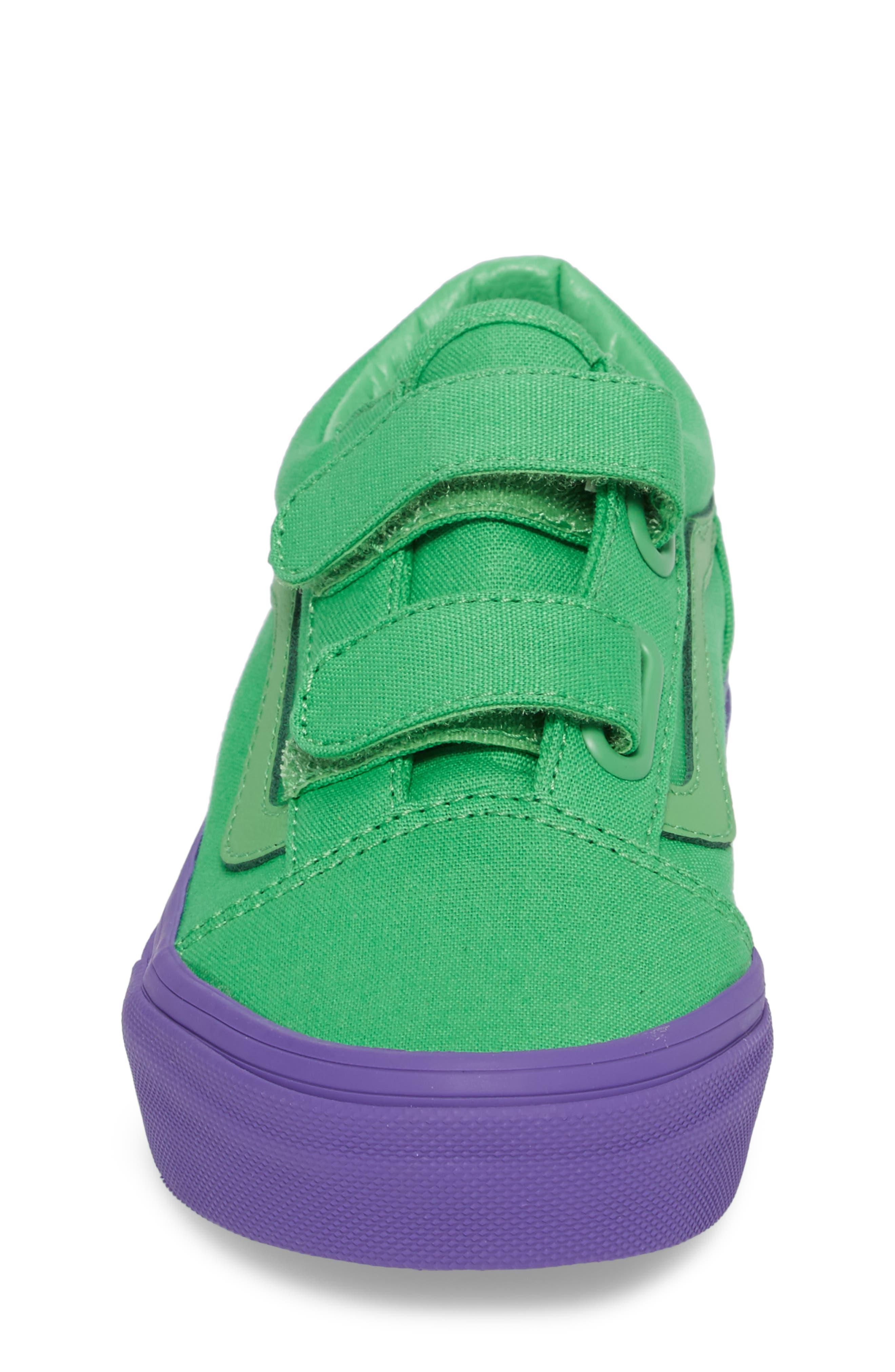Old Skool V Sneaker,                             Alternate thumbnail 4, color,                             Green/ Purple Cosplay