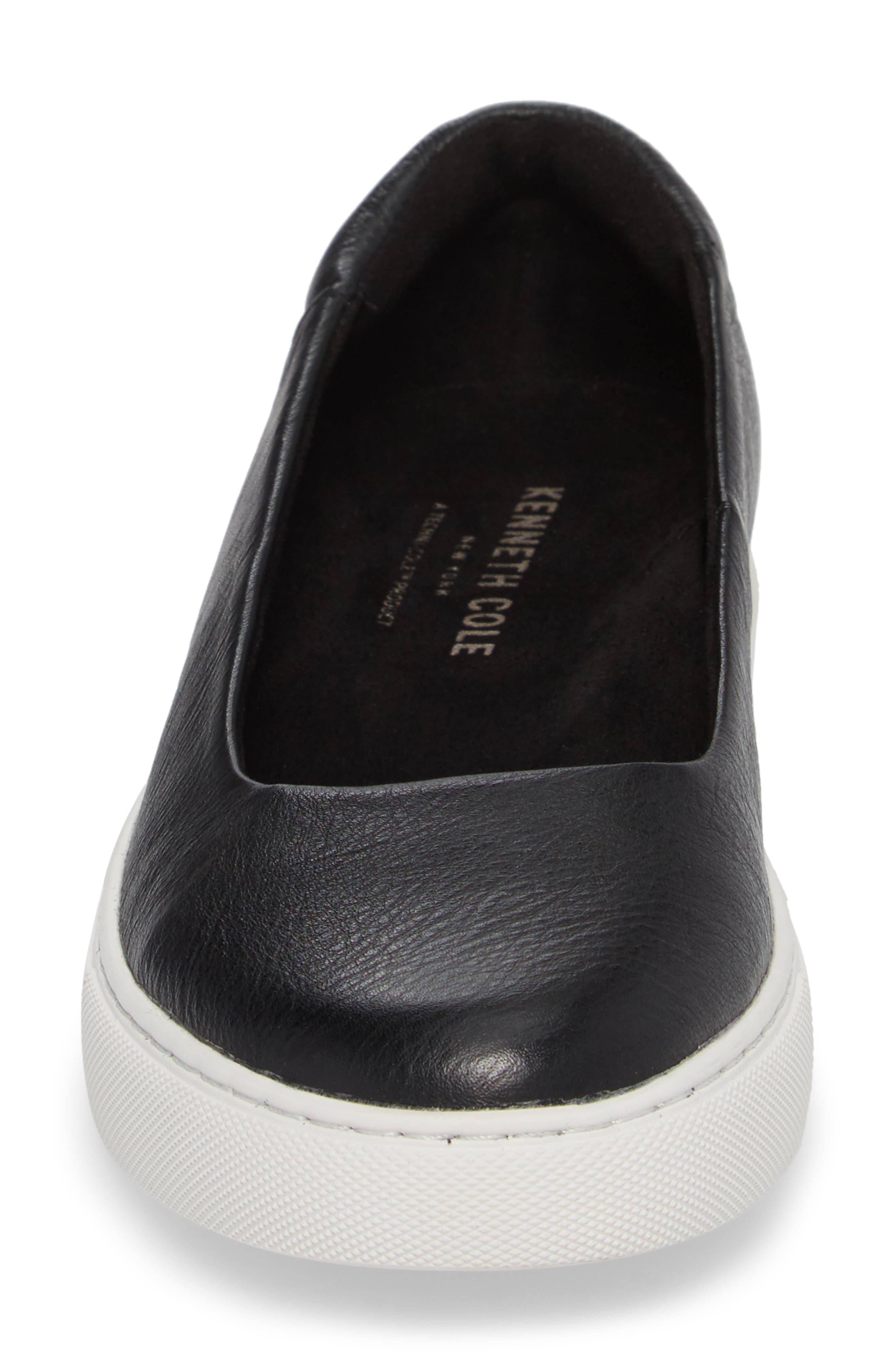 Kassie Flat,                             Alternate thumbnail 4, color,                             Black Leather