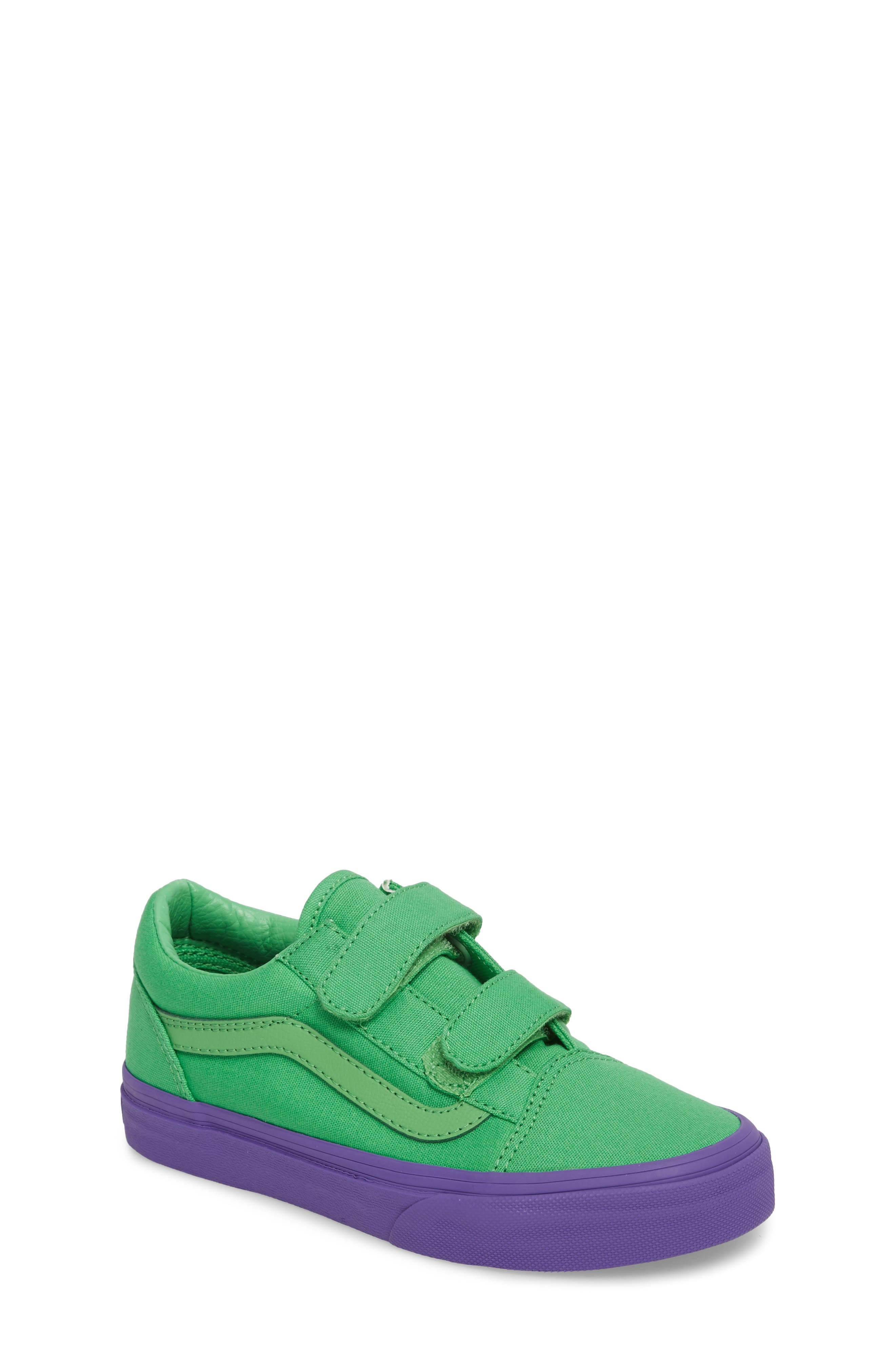 Old Skool V Sneaker,                             Main thumbnail 1, color,                             Green/ Purple Cosplay